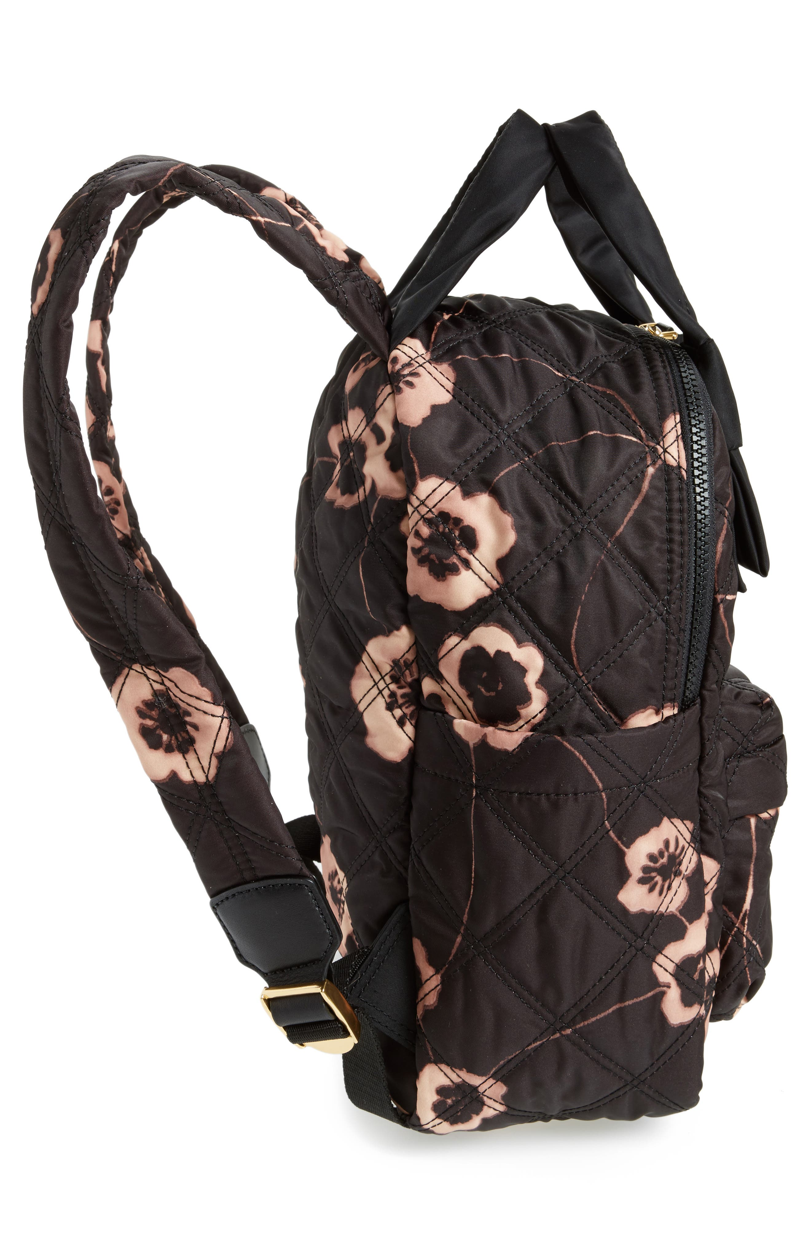 Small Violet Vines Knot Backpack,                             Alternate thumbnail 5, color,                             002