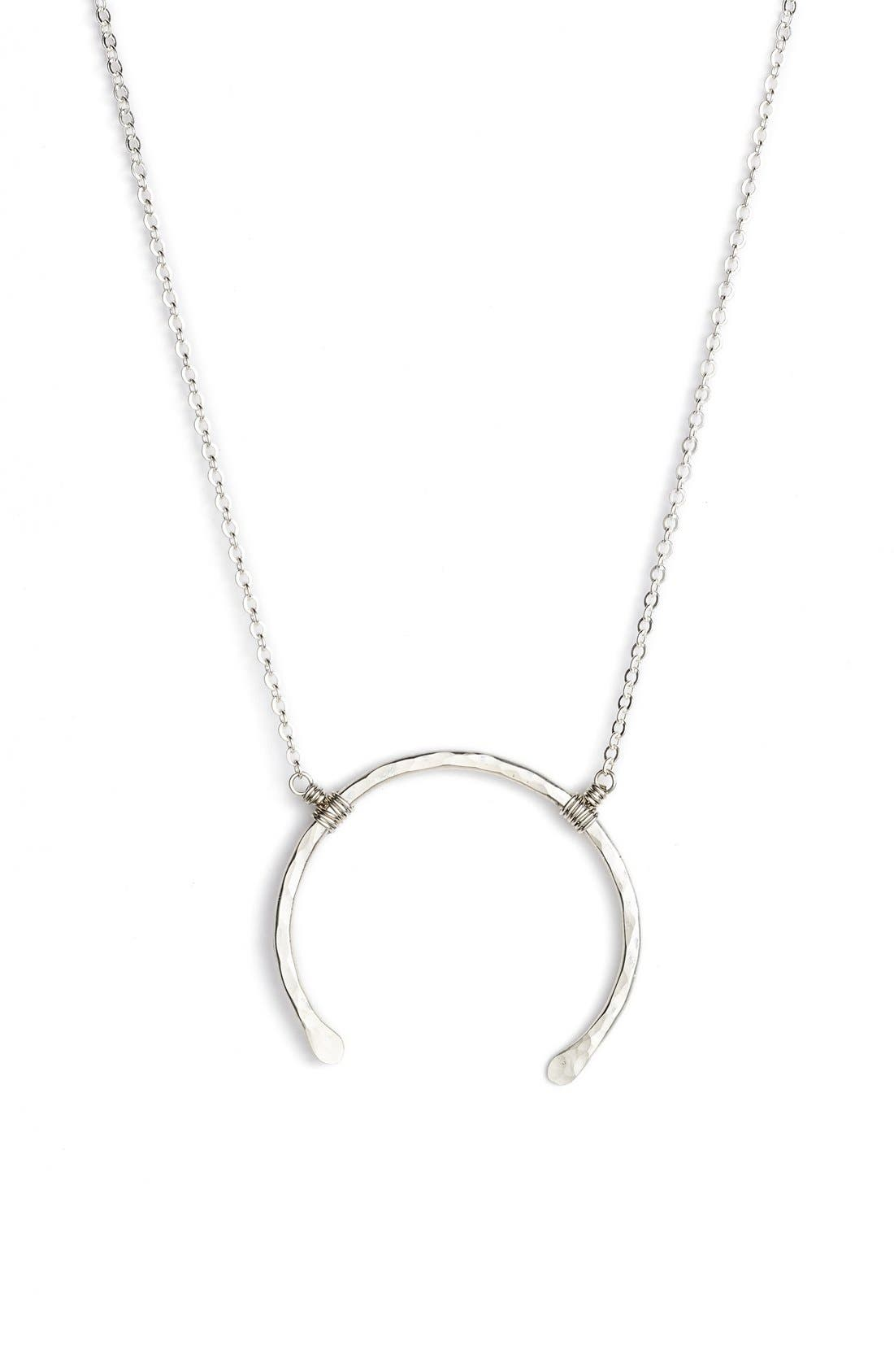 NASHELLE 'Imogen' Crescent Pendant Necklace, Main, color, 040