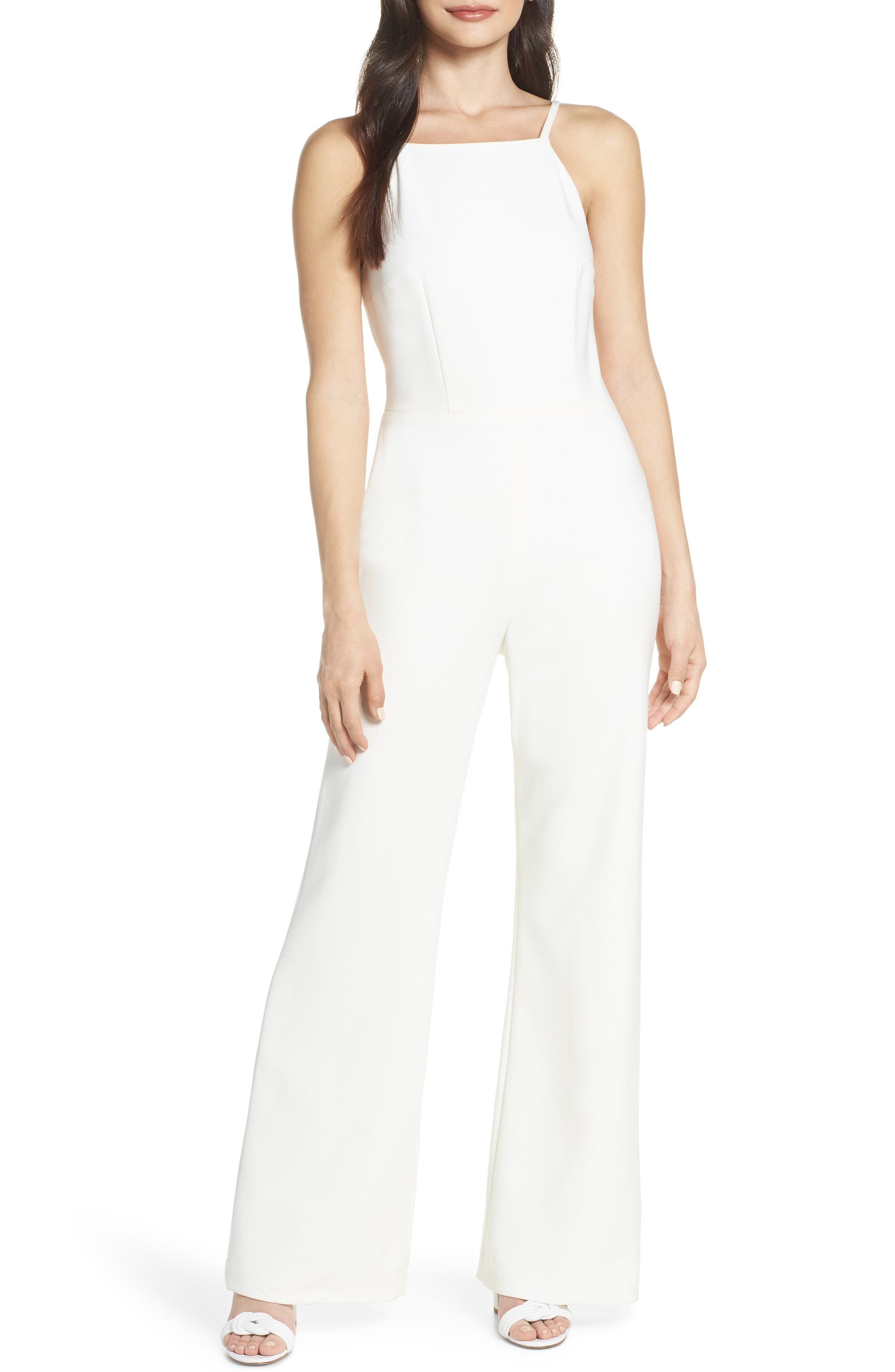 Whisper Halter Neck Jumpsuit,                             Main thumbnail 1, color,                             107