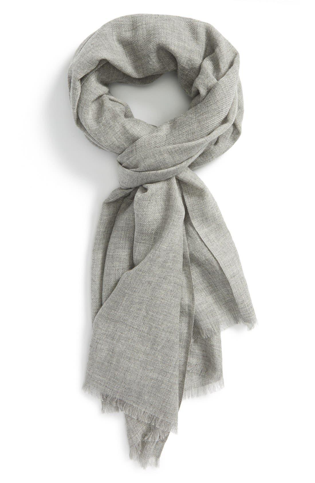 Wool & Cashmere Wrap,                             Main thumbnail 2, color,