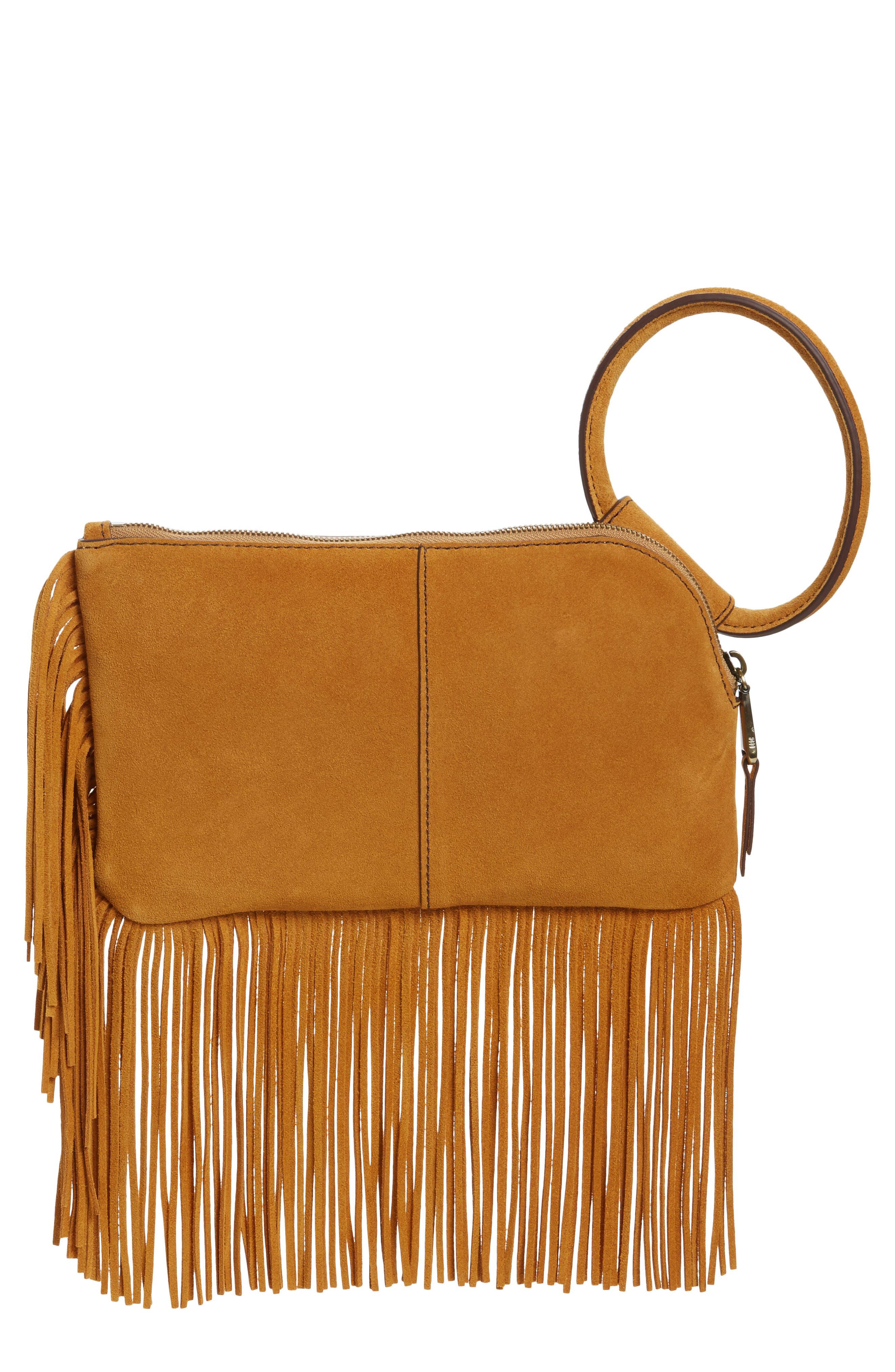 Sable Leather Clutch,                         Main,                         color, 250