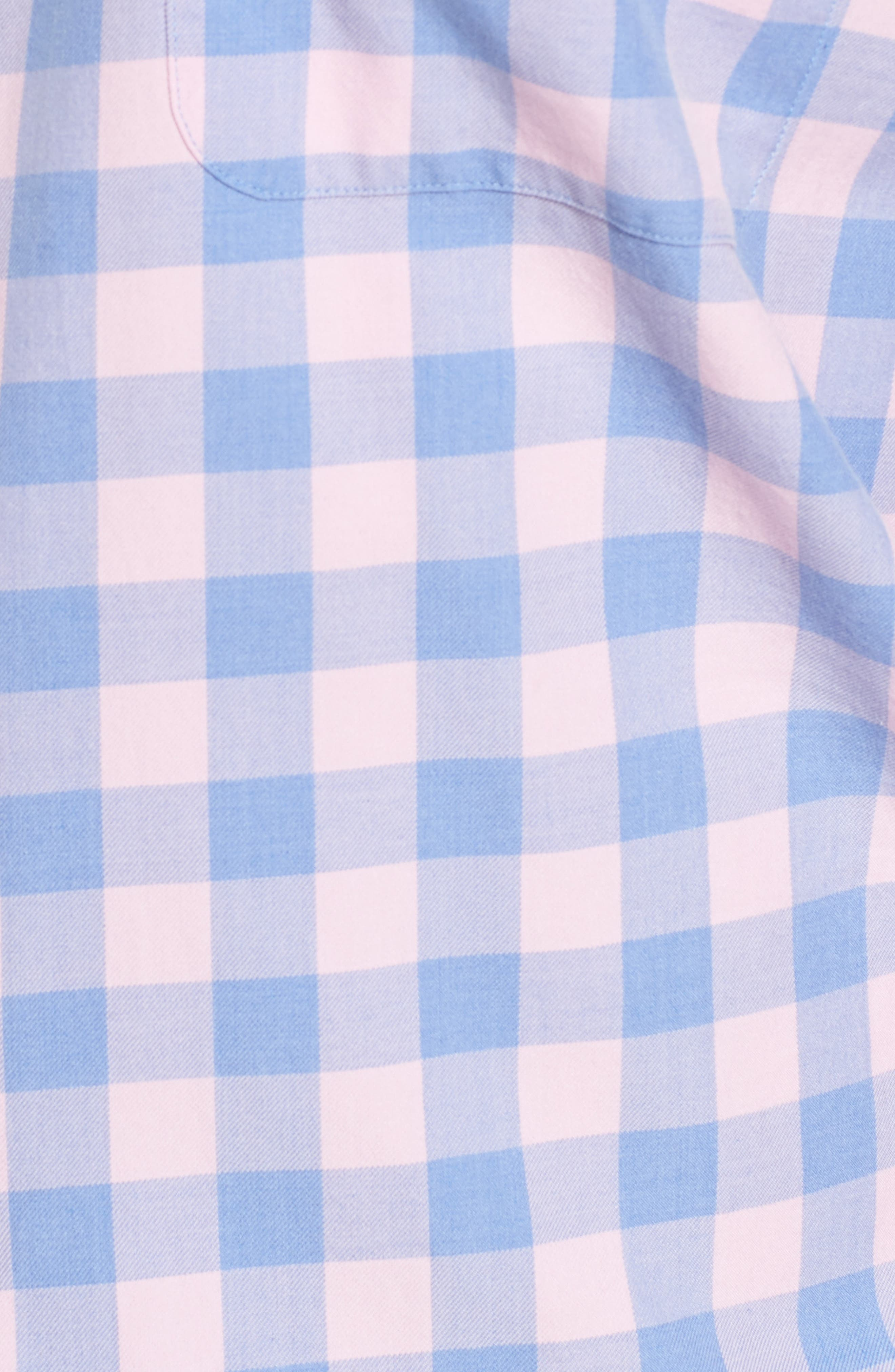 Seaglass Gingham Check Sport Shirt,                             Alternate thumbnail 5, color,                             407
