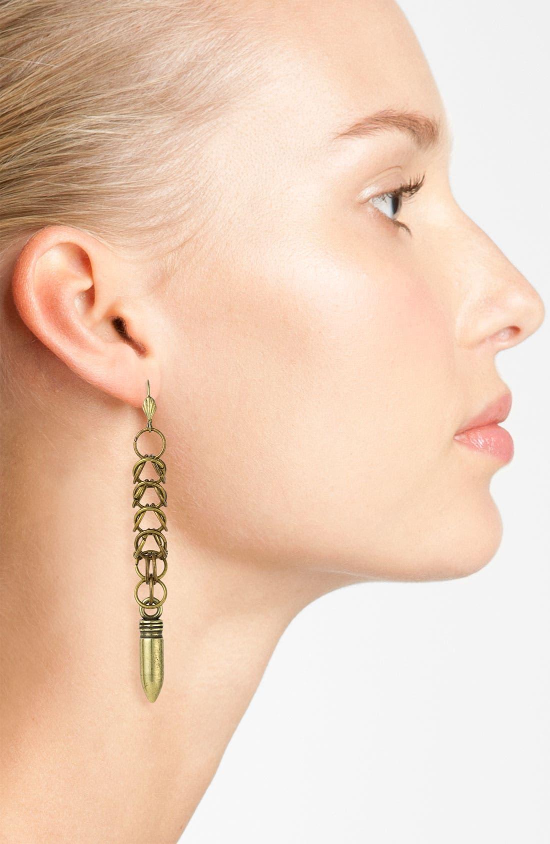 Chainmail Bullet Earrings,                             Alternate thumbnail 2, color,                             221
