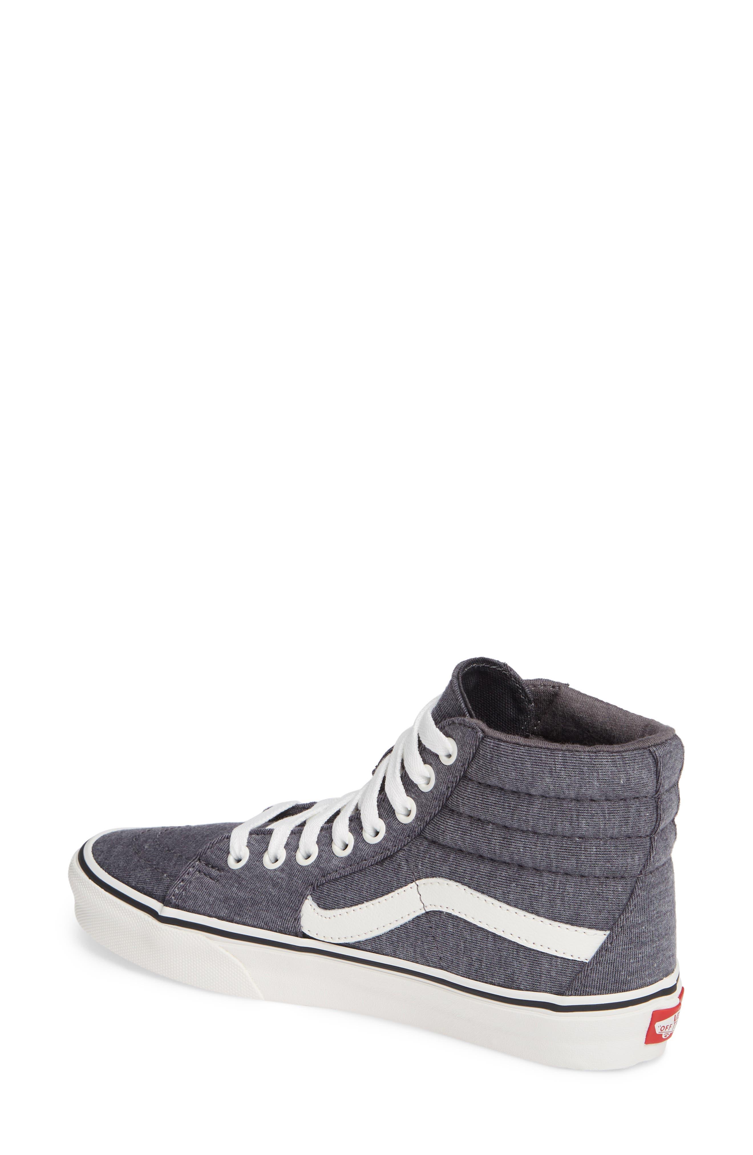 'Sk8-Hi' Sneaker,                             Alternate thumbnail 2, color,                             GREY/ SNOW WHITE