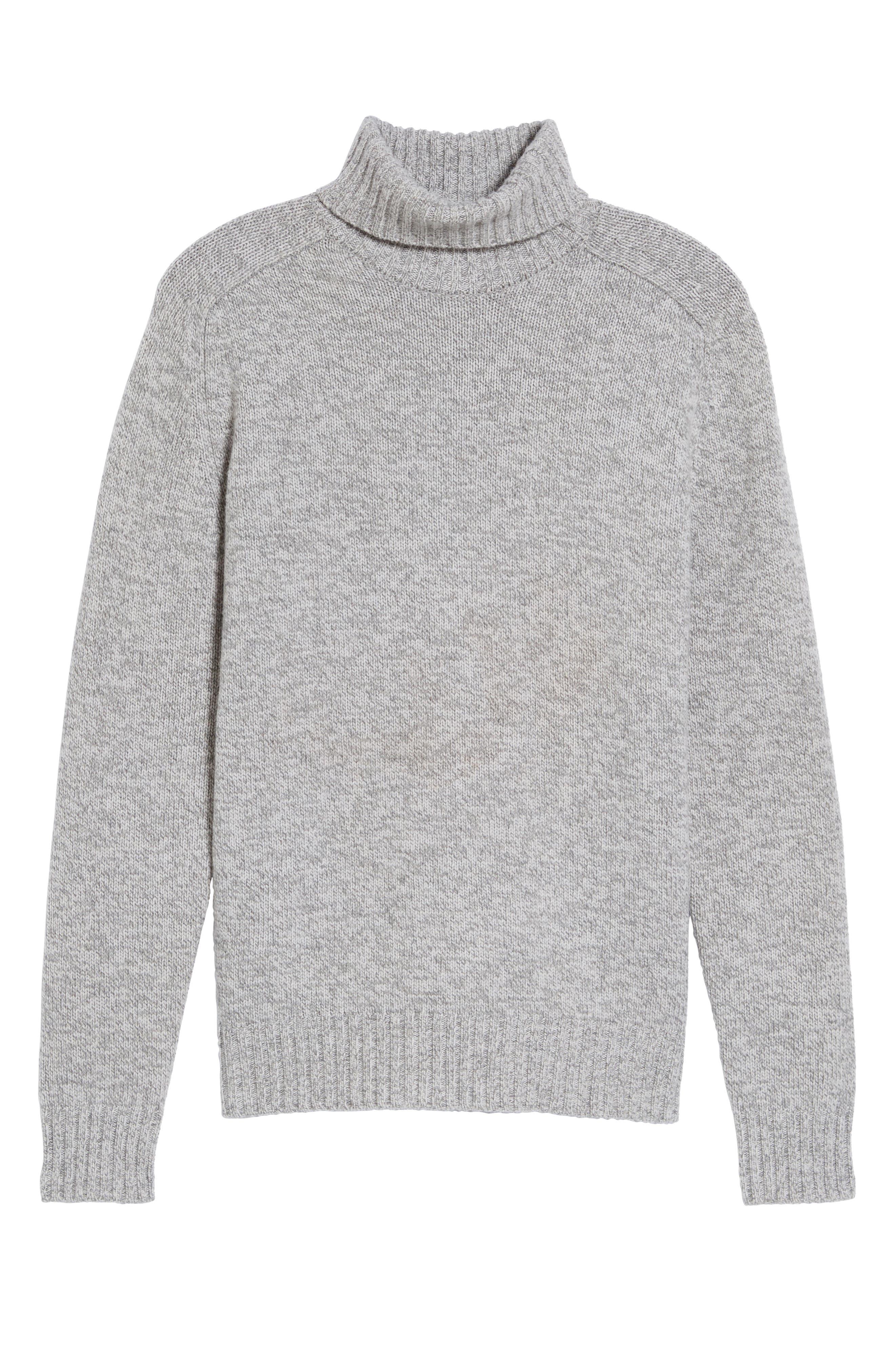 Marled Turtleneck Sweater,                             Alternate thumbnail 6, color,                             054