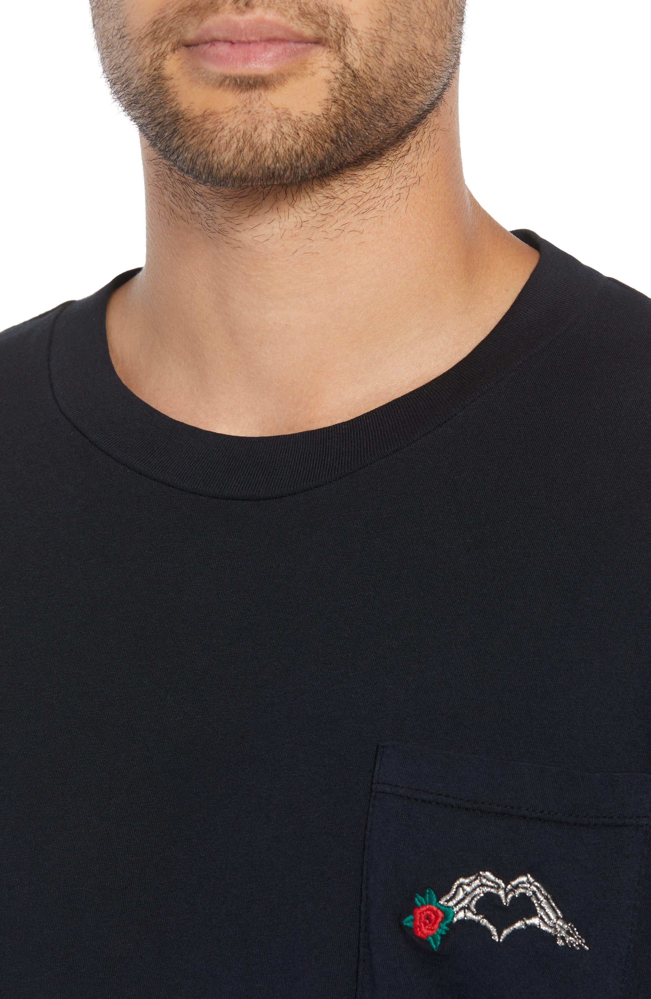 Hayes T-Shirt,                             Alternate thumbnail 4, color,                             BLACK