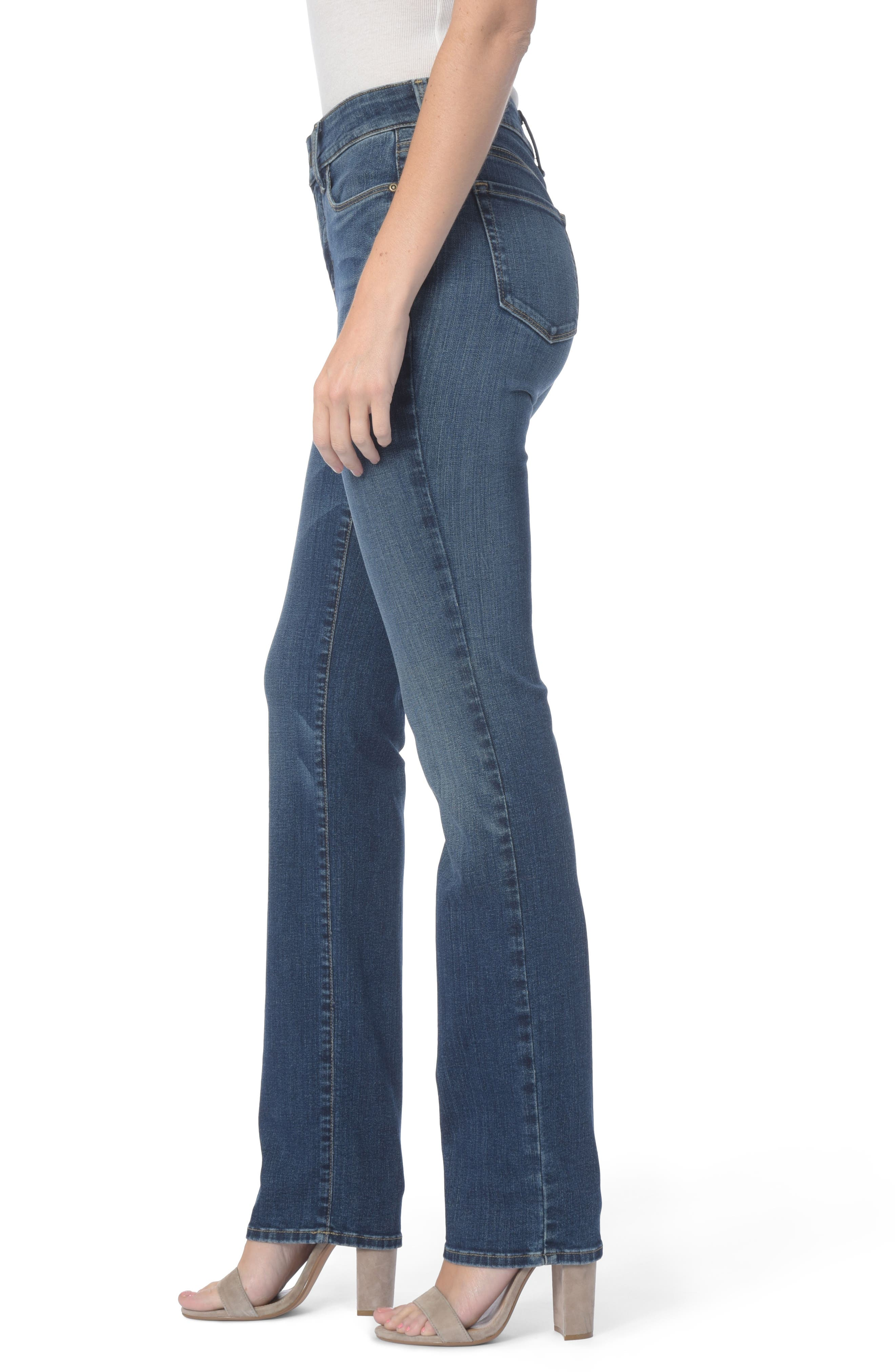 Marilyn Stretch Straight Leg Jeans,                             Alternate thumbnail 3, color,                             411