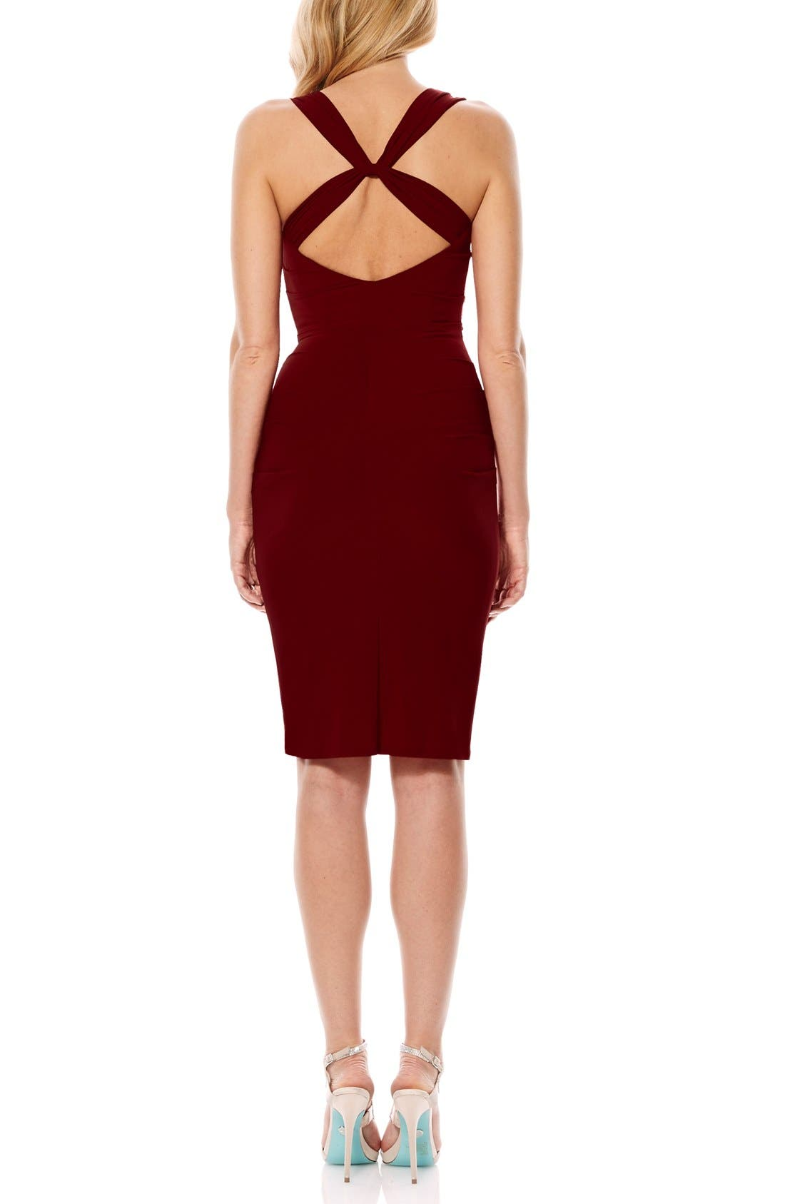 Twist Back Jersey Body-Con Dress,                             Alternate thumbnail 11, color,