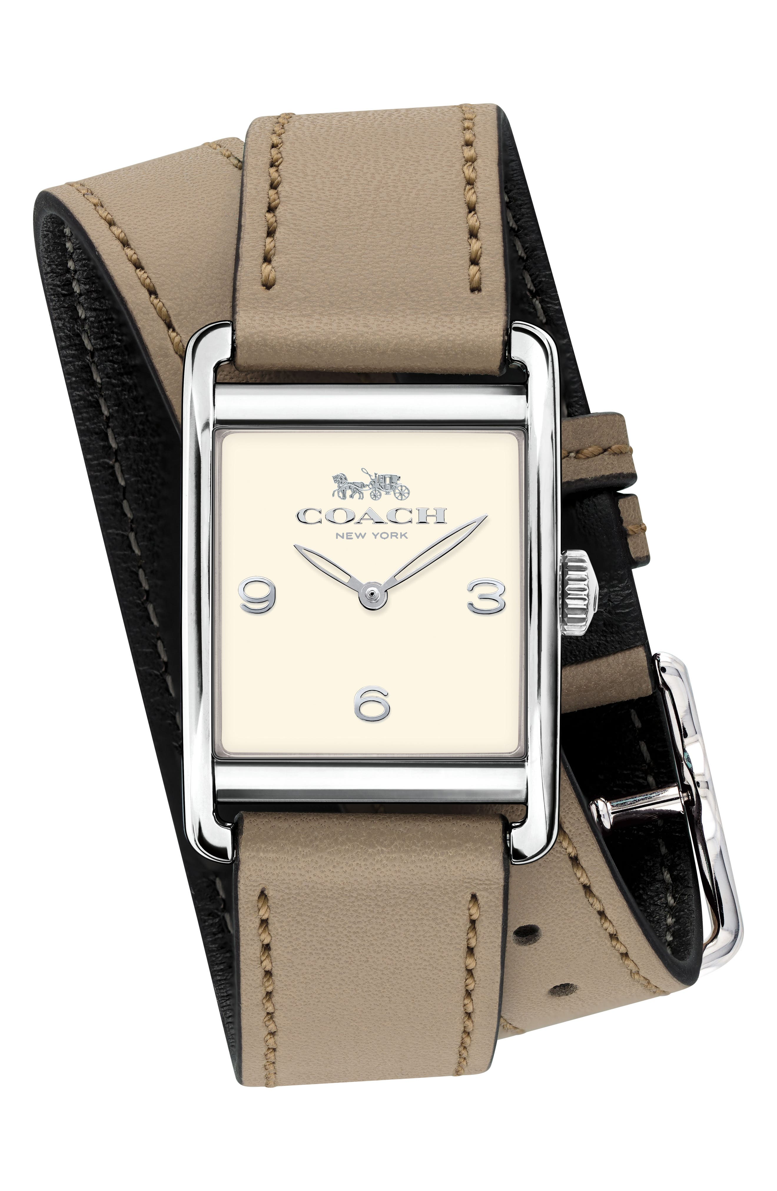 Renwick Double Wrap Leather Strap Watch, 24mm x 35mm,                             Main thumbnail 2, color,
