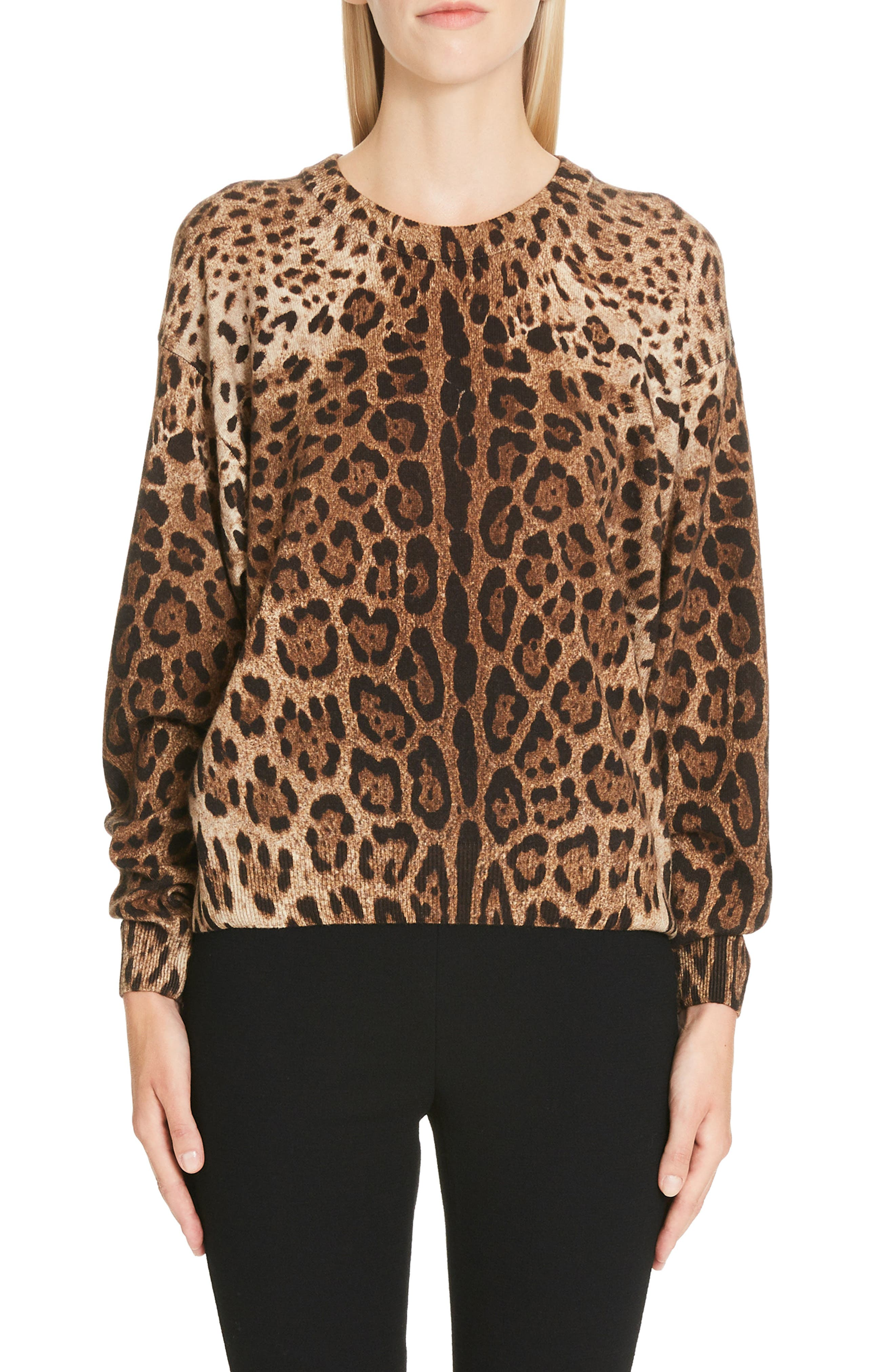 Leopard Print Top, Main, color, LEO