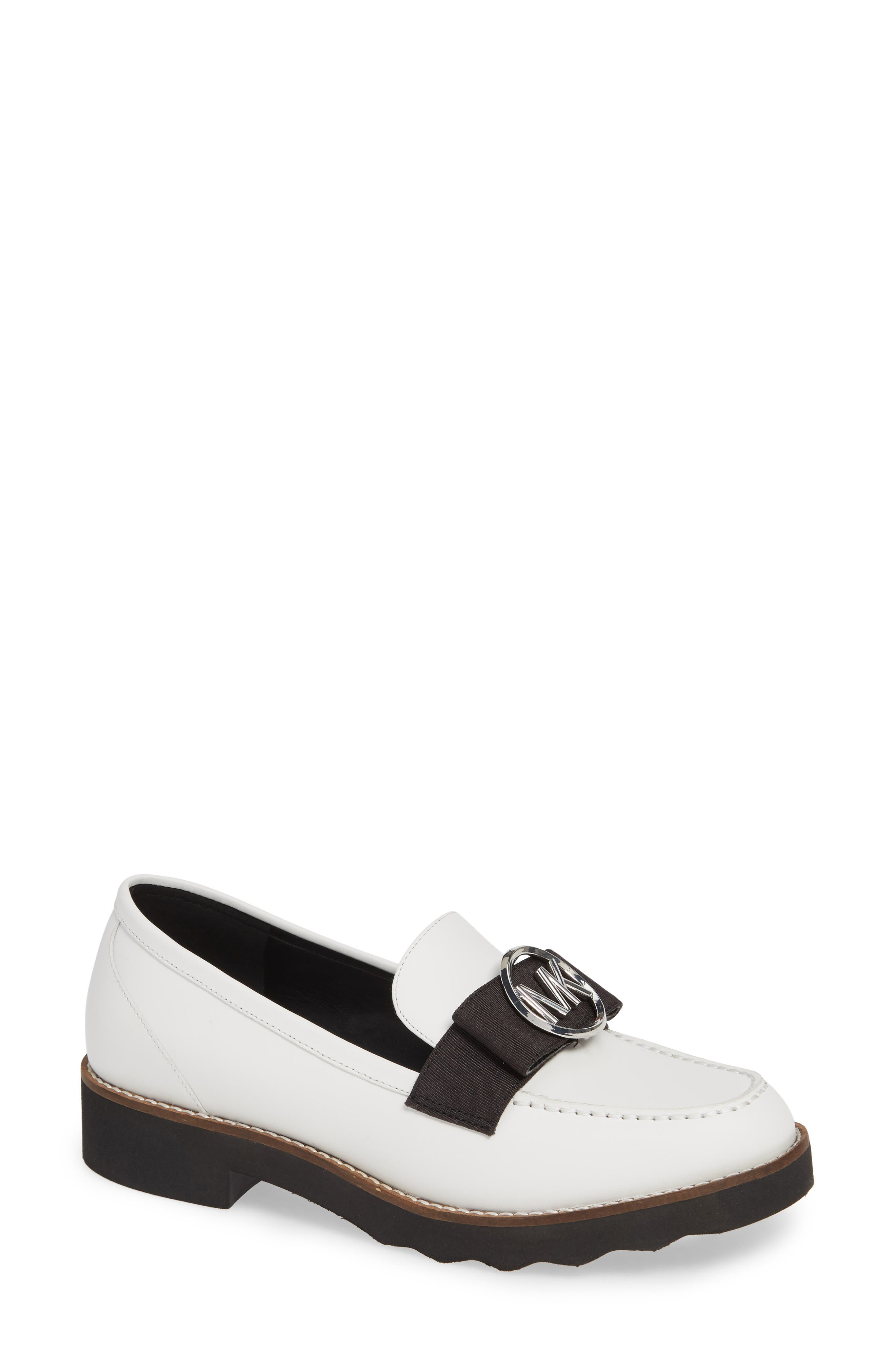 Aden Loafer in White Vachetta Leather