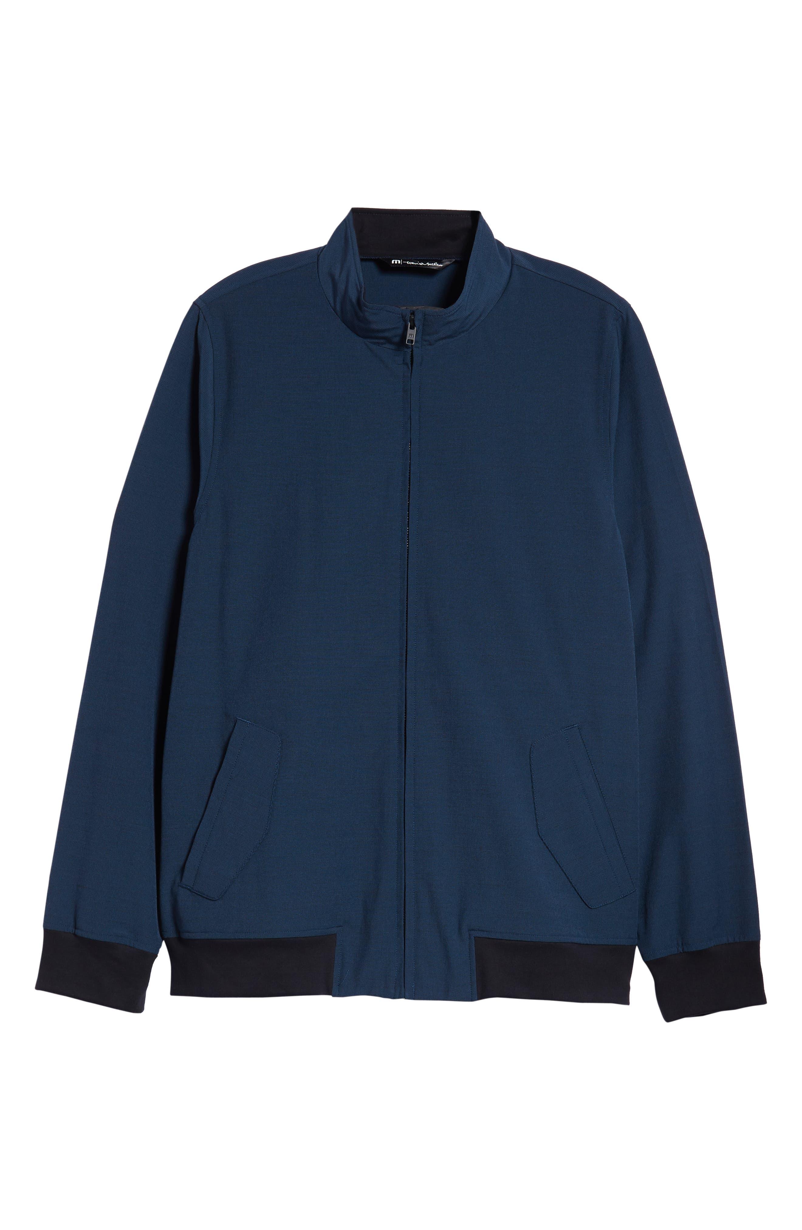 Ridgley Regular Fit Jacket,                             Alternate thumbnail 5, color,                             BLUE WING TEAL/ BLACK