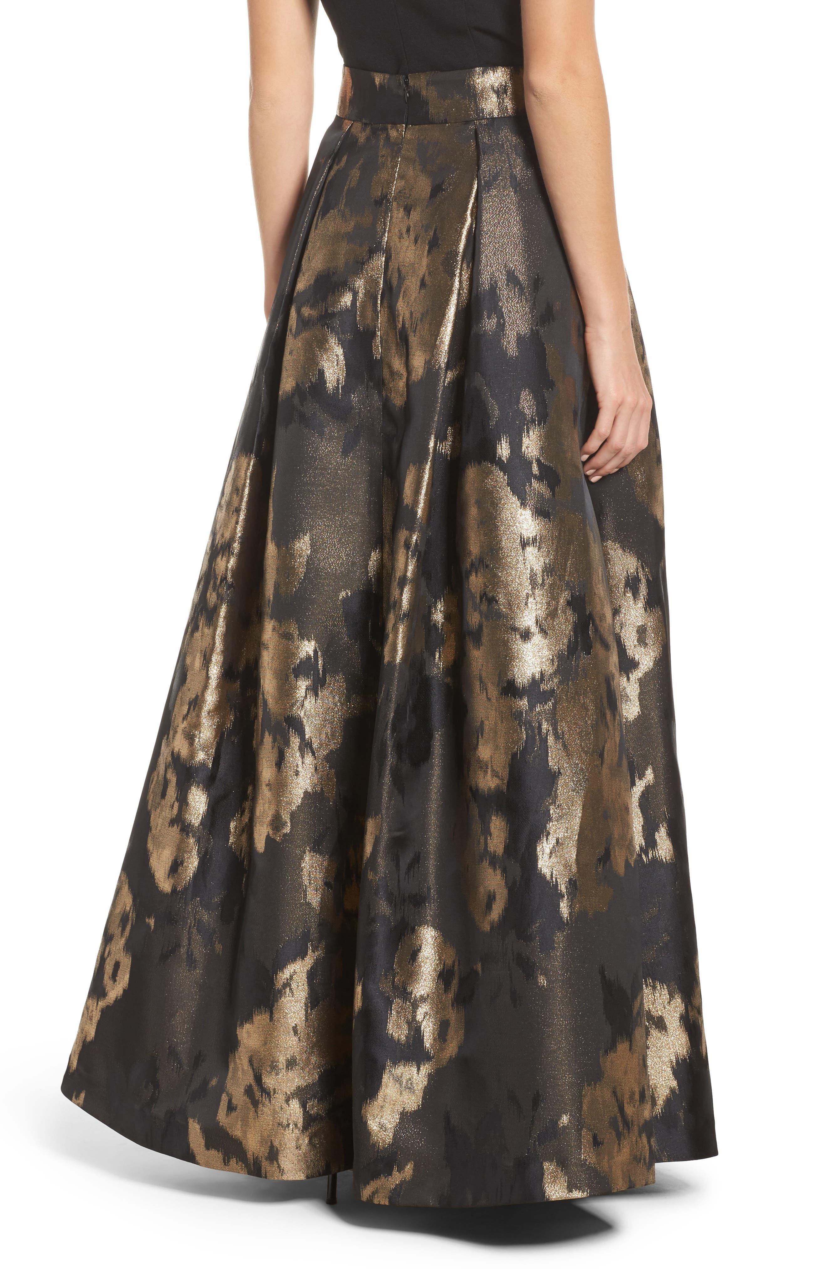 Metallic Jacquard Ball Skirt,                             Alternate thumbnail 2, color,
