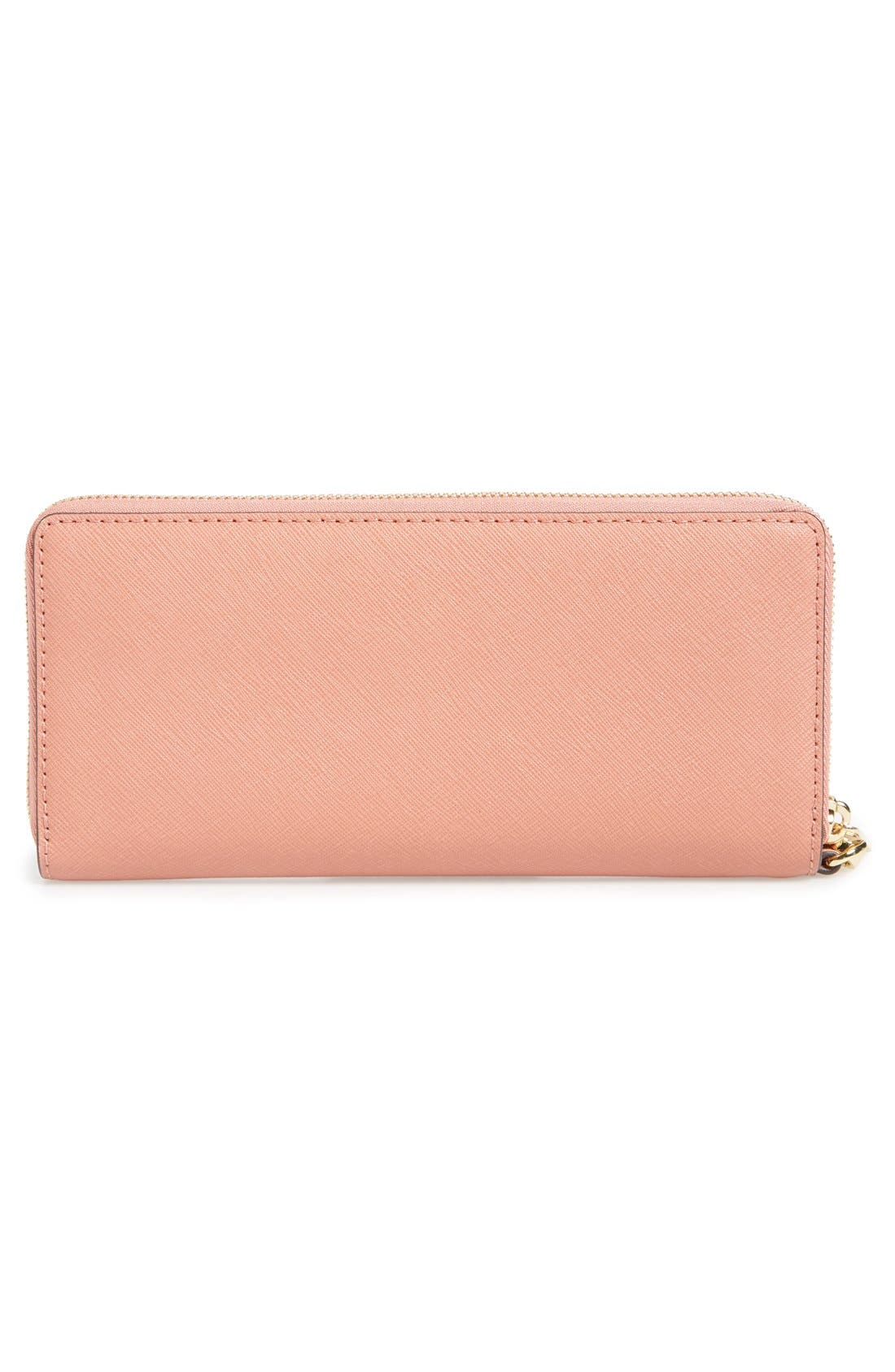 'Jet Set' Leather Travel Wallet,                             Alternate thumbnail 38, color,