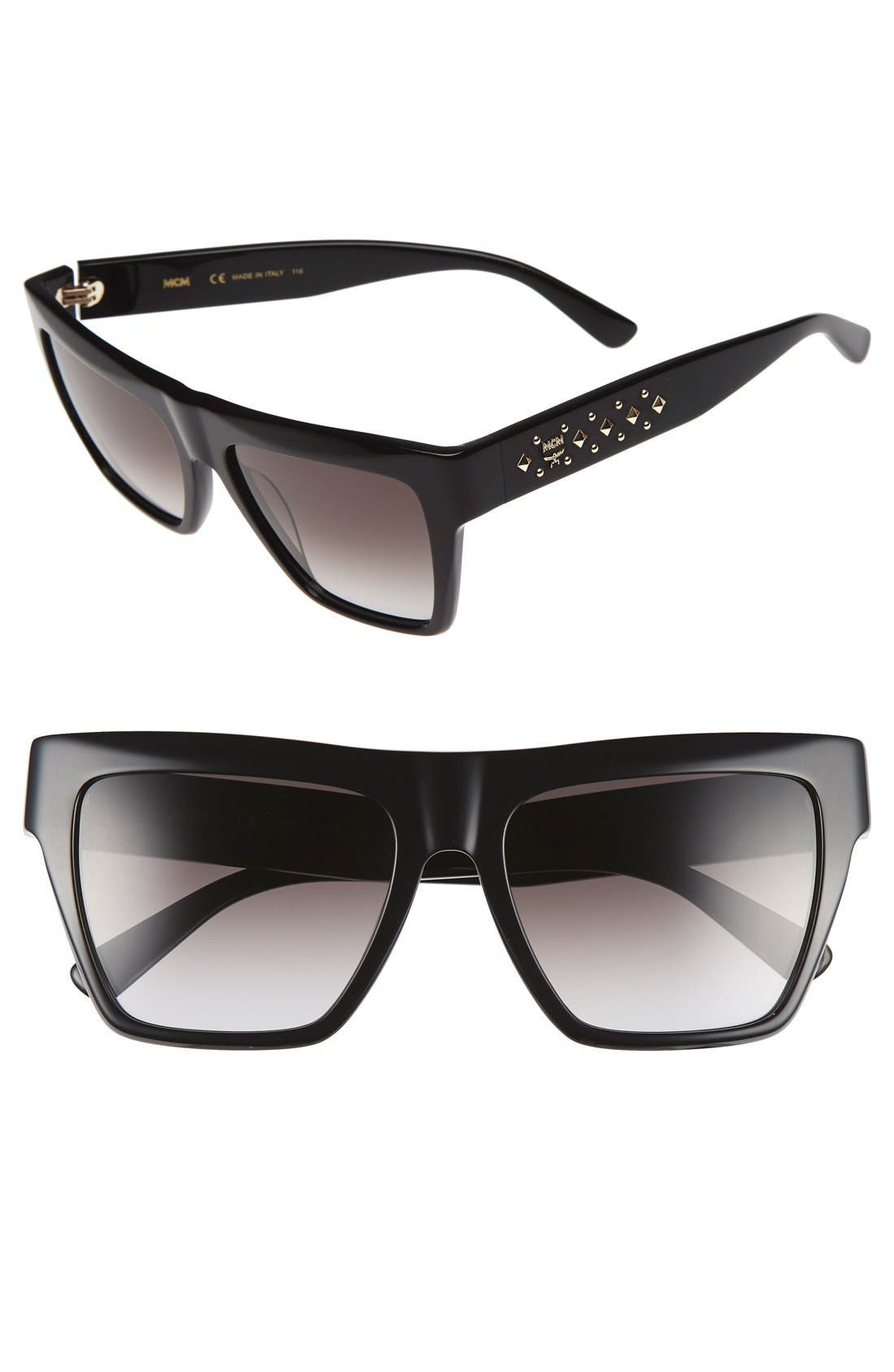 55mm Studded Navigator Sunglasses,                         Main,                         color,