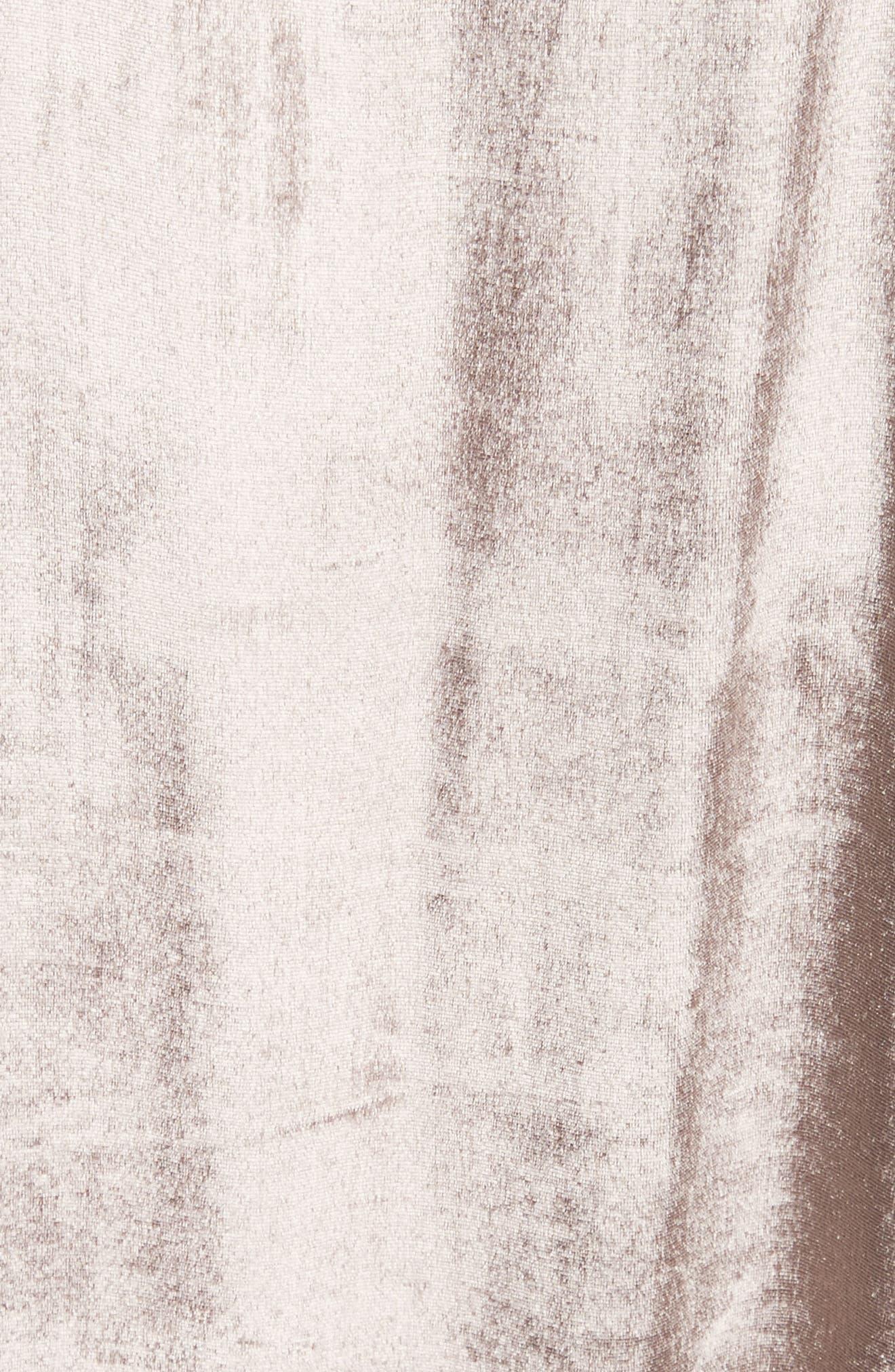 Parker Velvet Slipdress,                             Alternate thumbnail 5, color,