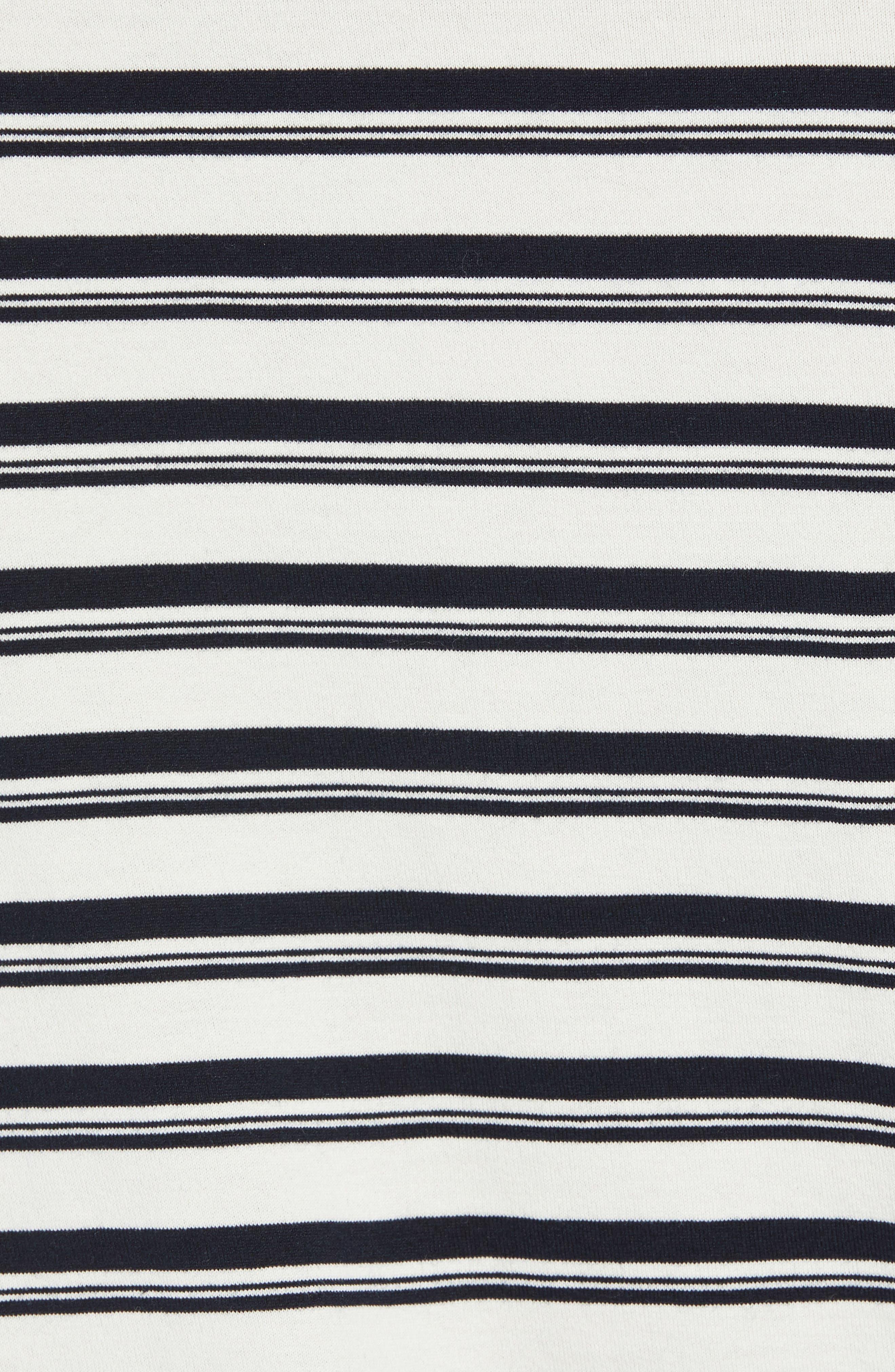 Variegated Stripe Regular Fit Cotton Crewneck T-Shirt,                             Alternate thumbnail 5, color,                             400