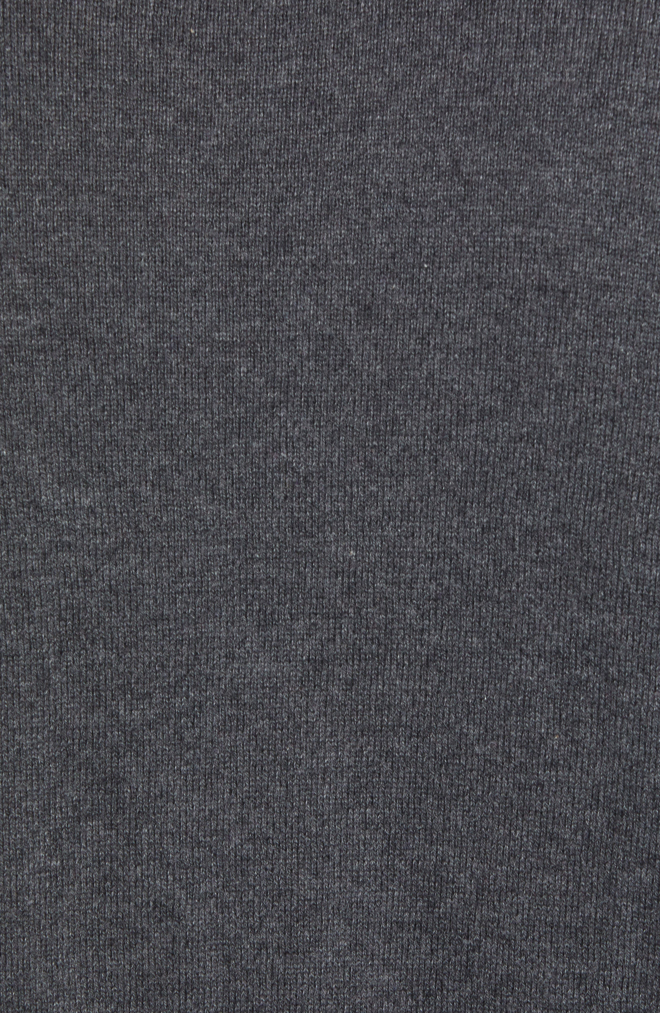 Tournament Slim Fit V-Neck Sweater,                             Alternate thumbnail 5, color,                             HEATHER CHARCOAL