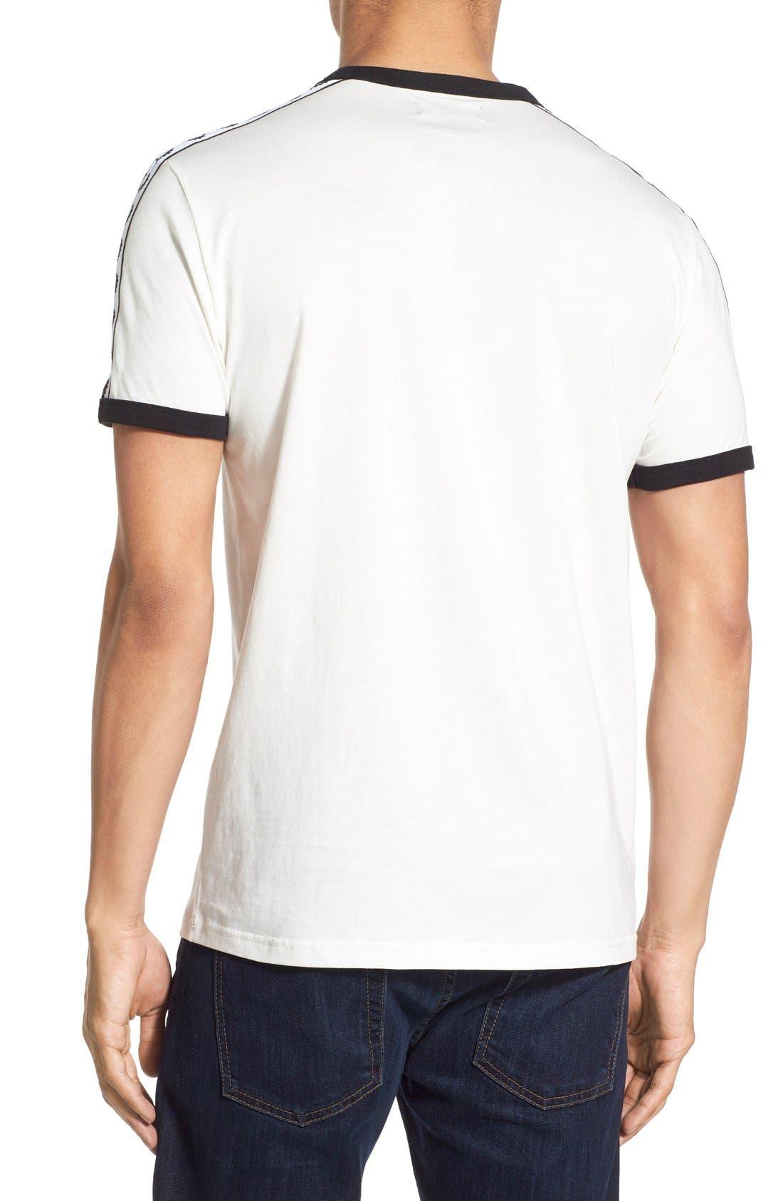 Extra Trim Fit Cotton Ringer T-Shirt,                             Alternate thumbnail 12, color,