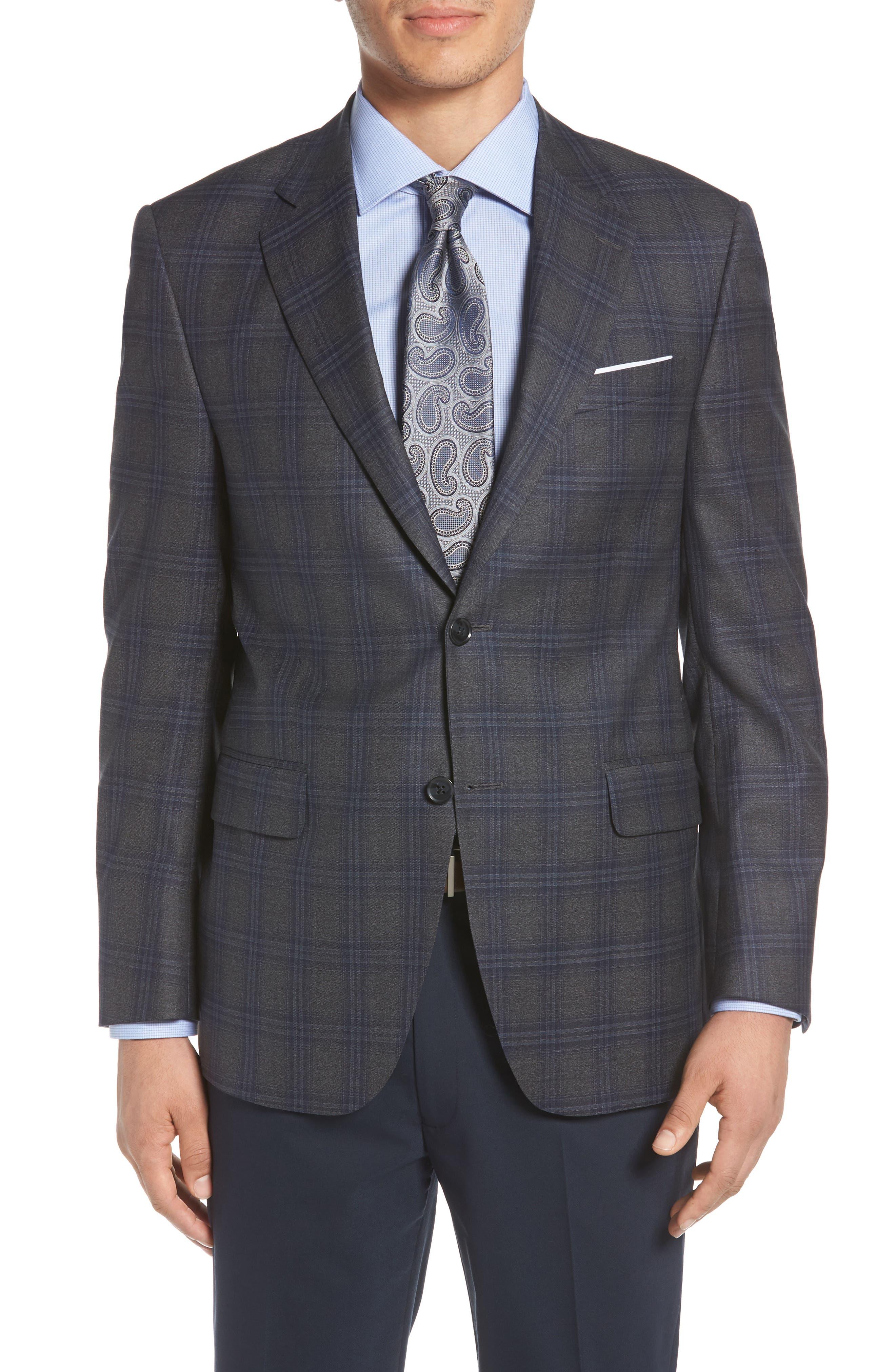 PETER MILLAR,                             Classic Fit Plaid Wool Sport Coat,                             Main thumbnail 1, color,                             020