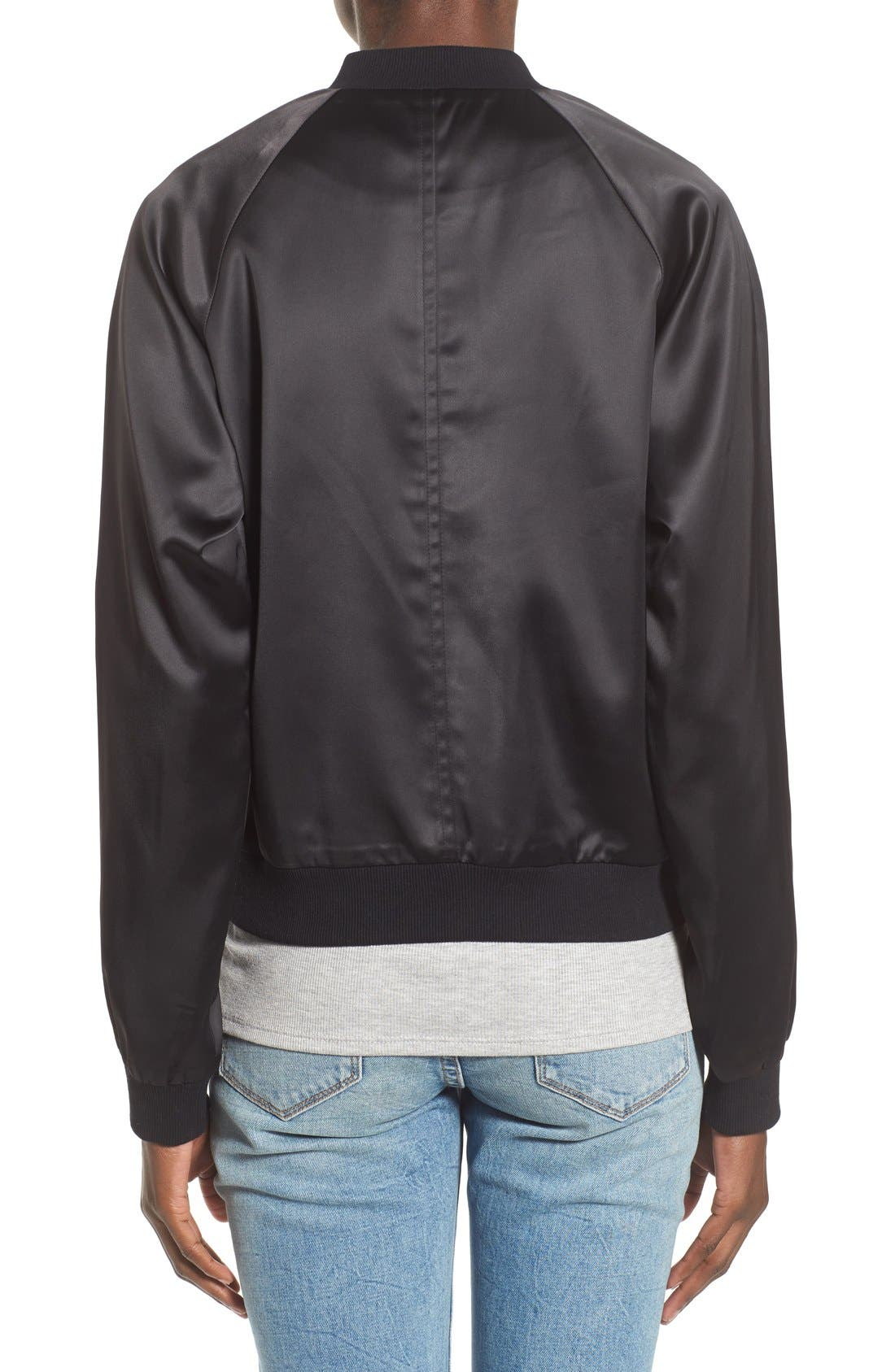 Varsity Bomber Jacket,                             Alternate thumbnail 3, color,                             001
