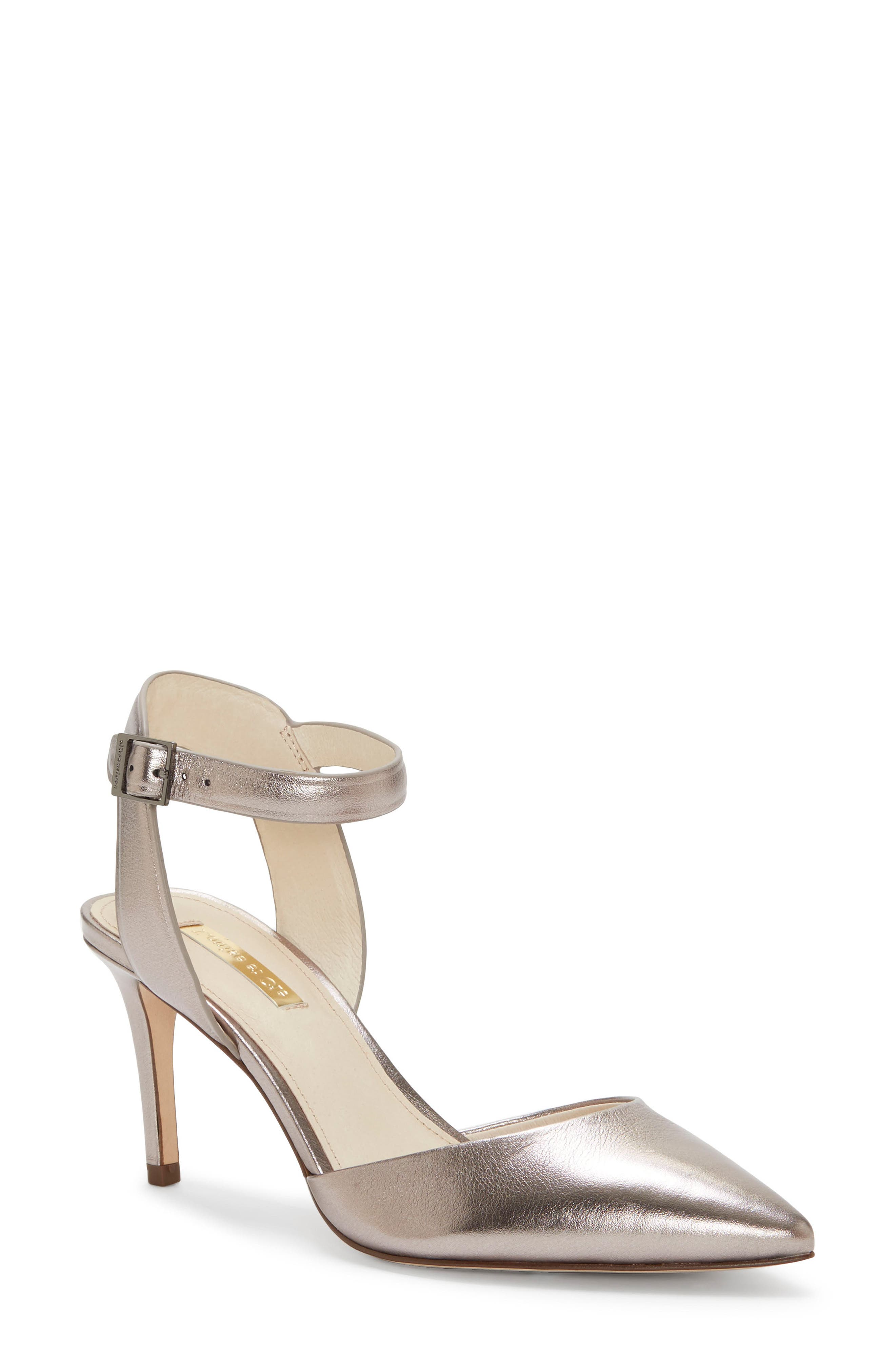 Kota Ankle Strap Pump,                         Main,                         color, PETROL METALLIC