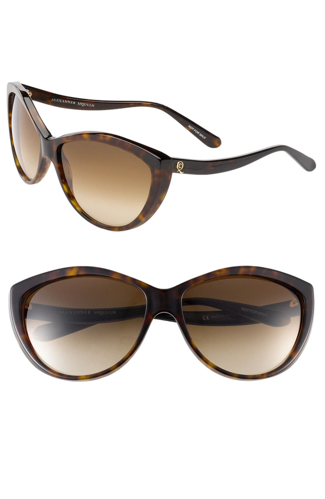 61mm Two-Tone Cat Eye Sunglasses,                             Main thumbnail 5, color,