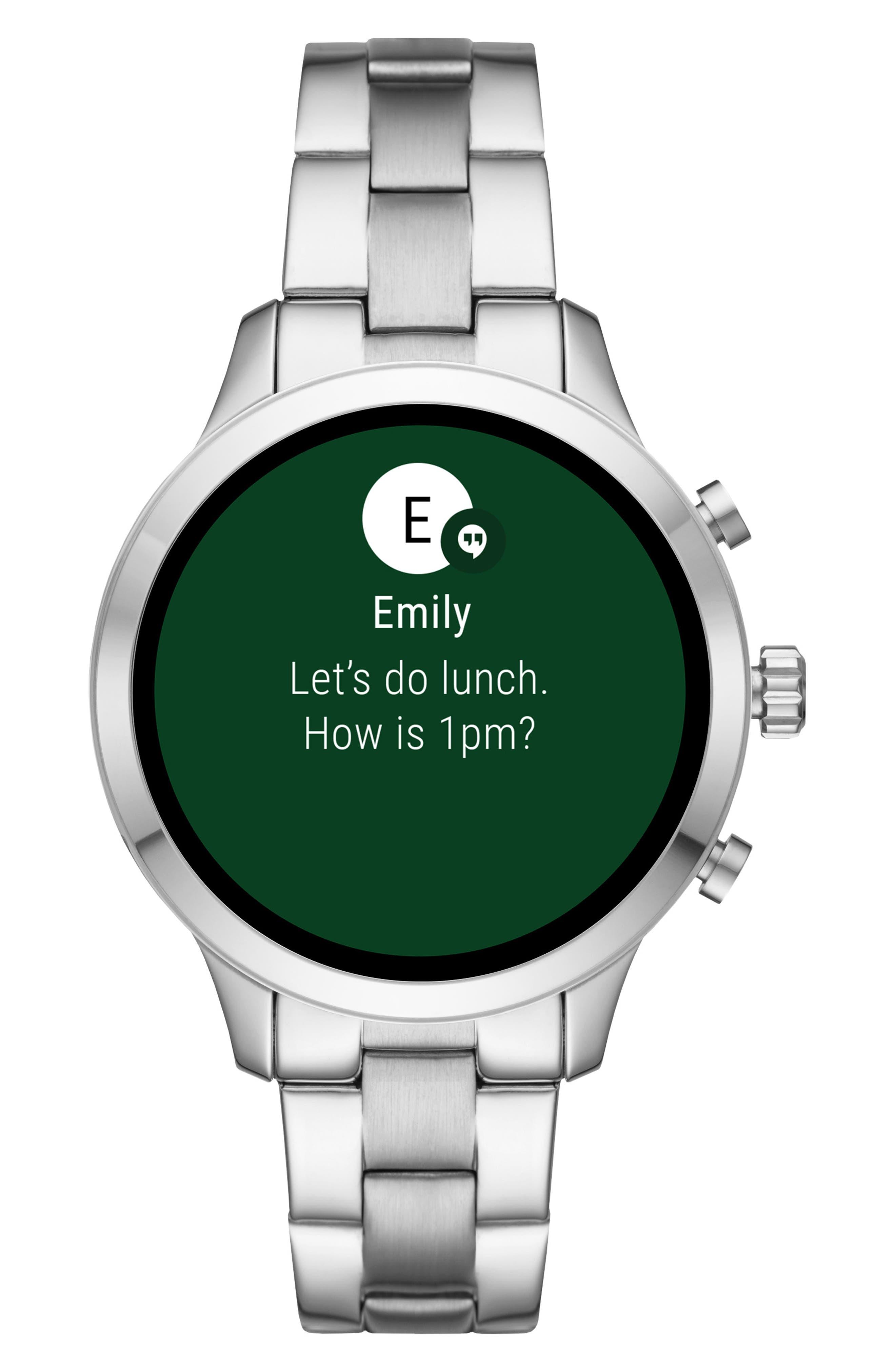 MICHAEL Michael Kors Access Runway Smart Bracelet Watch, 41mm,                             Alternate thumbnail 5, color,                             SILVER