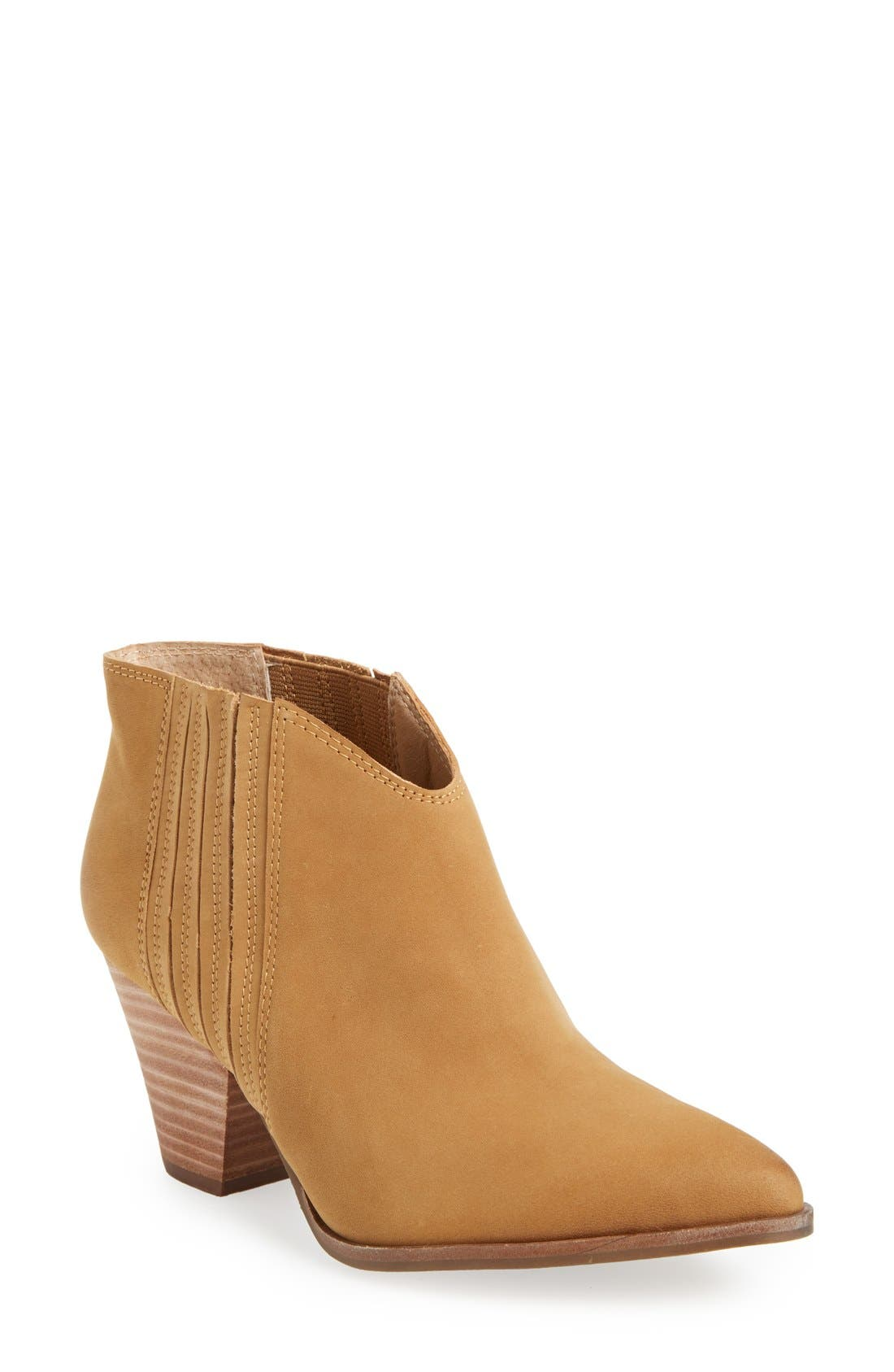 'Addie' Pointy Toe Ankle Bootie,                             Main thumbnail 3, color,