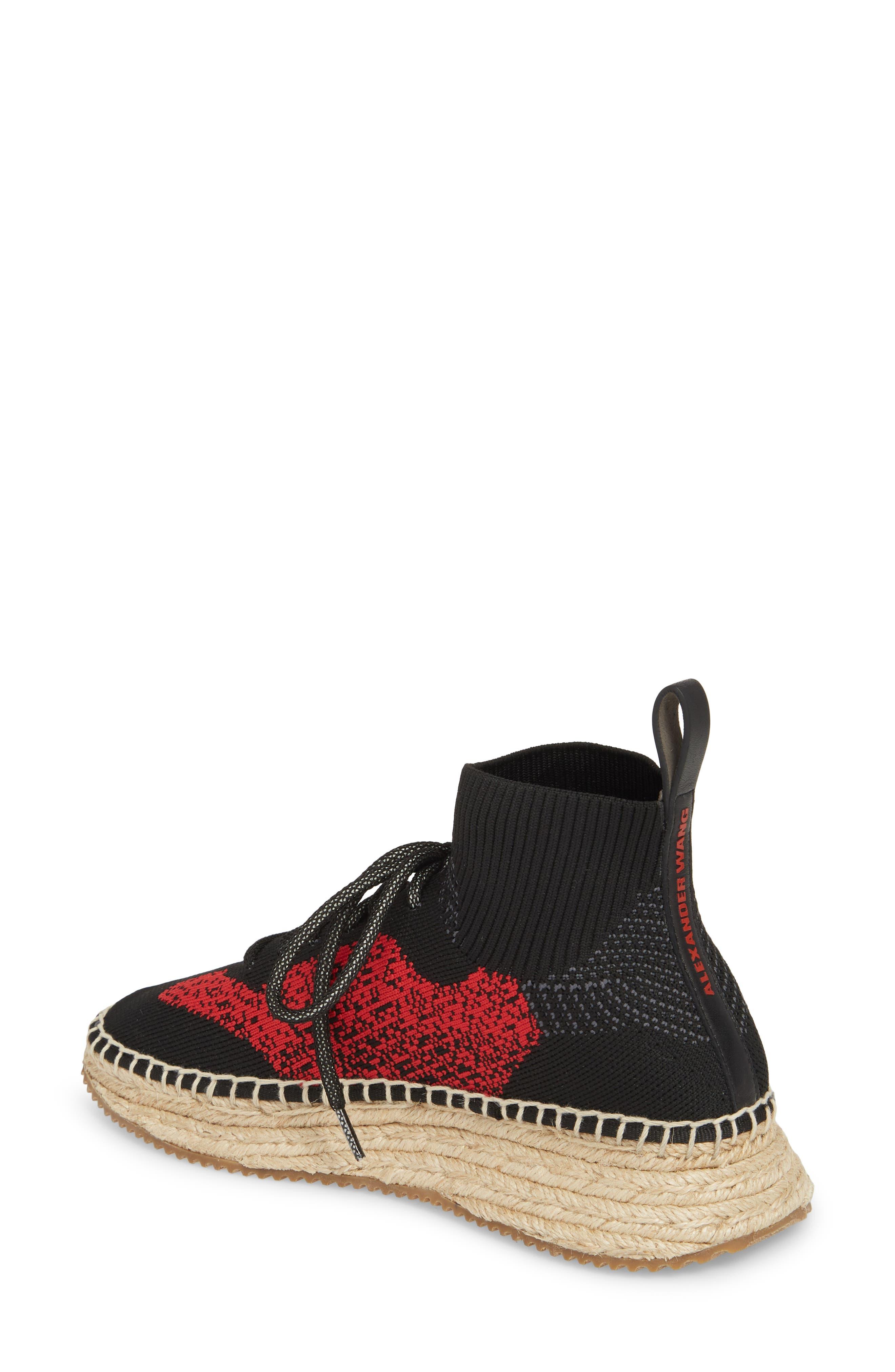 Dakota Espadrille Sock Sneaker,                             Alternate thumbnail 4, color,