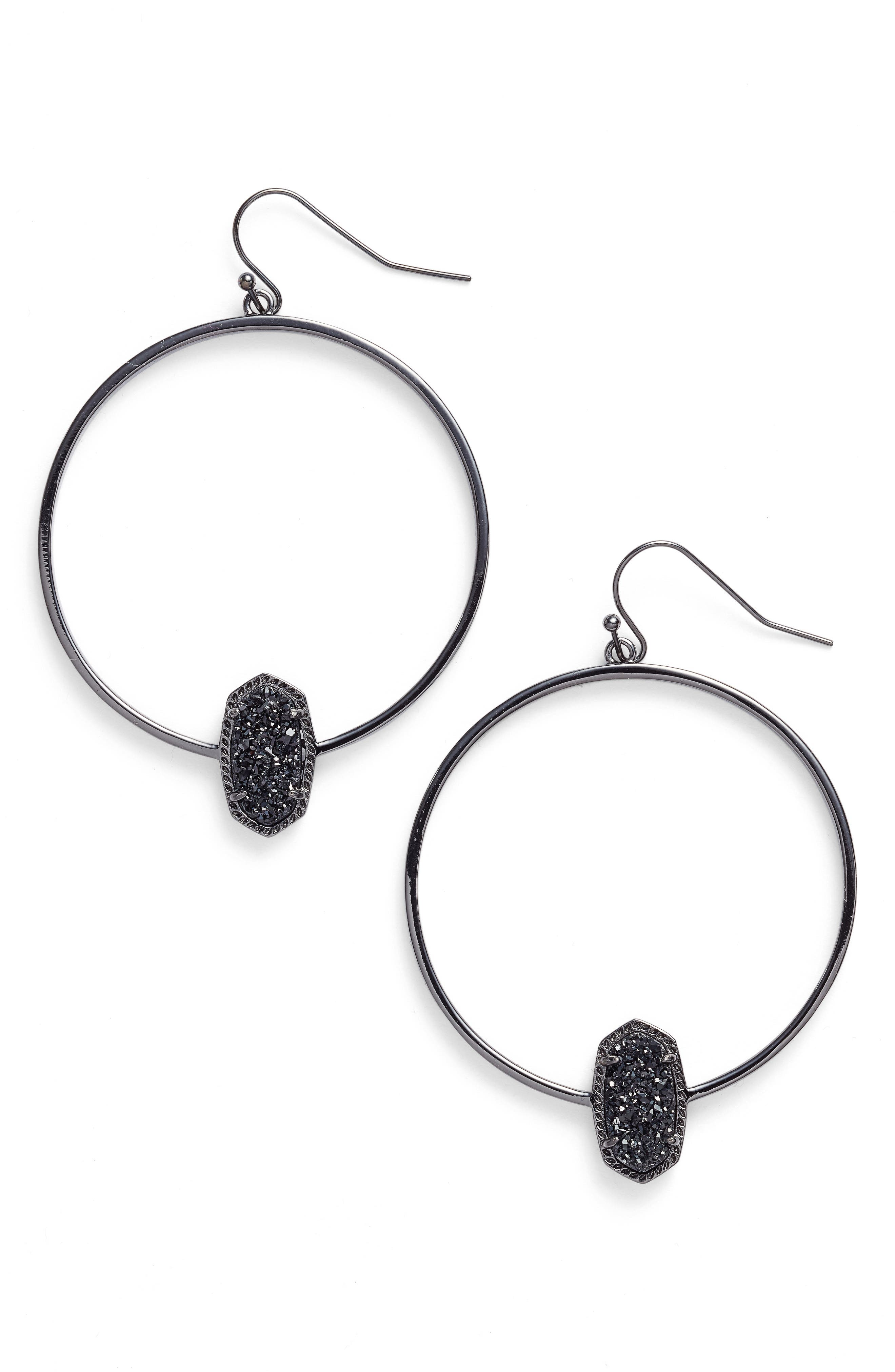 Elora Frontal Hoop Earrings,                         Main,                         color,