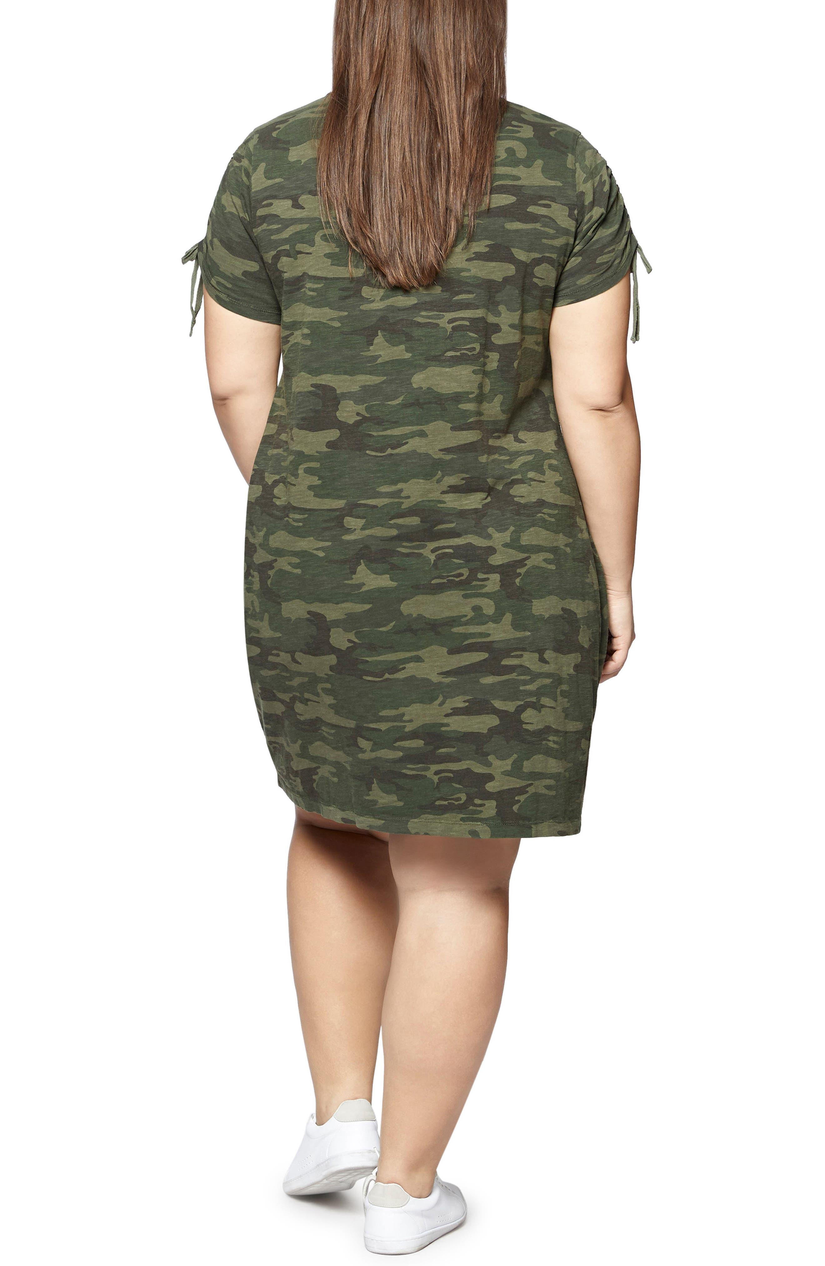 Ojai Camo T-Shirt Dress,                             Alternate thumbnail 2, color,                             MOTHER NATURE CAMO