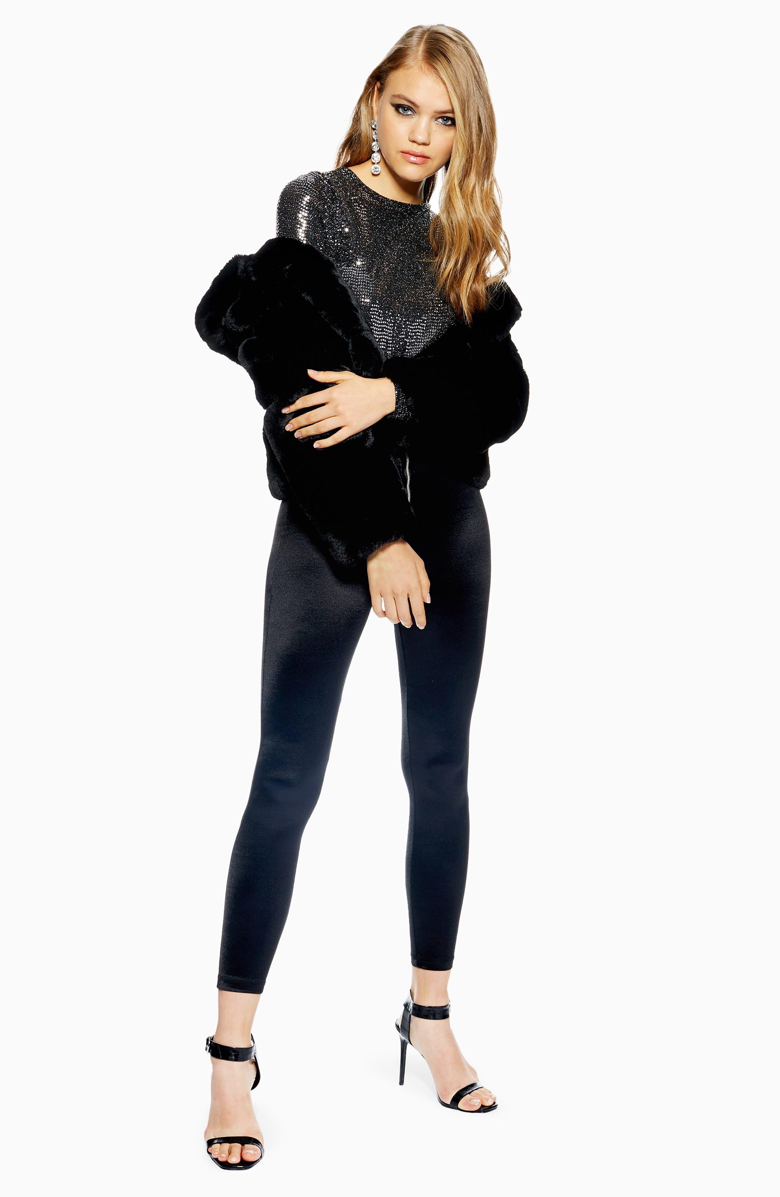 Sequin Top,                             Alternate thumbnail 7, color,                             BLACK