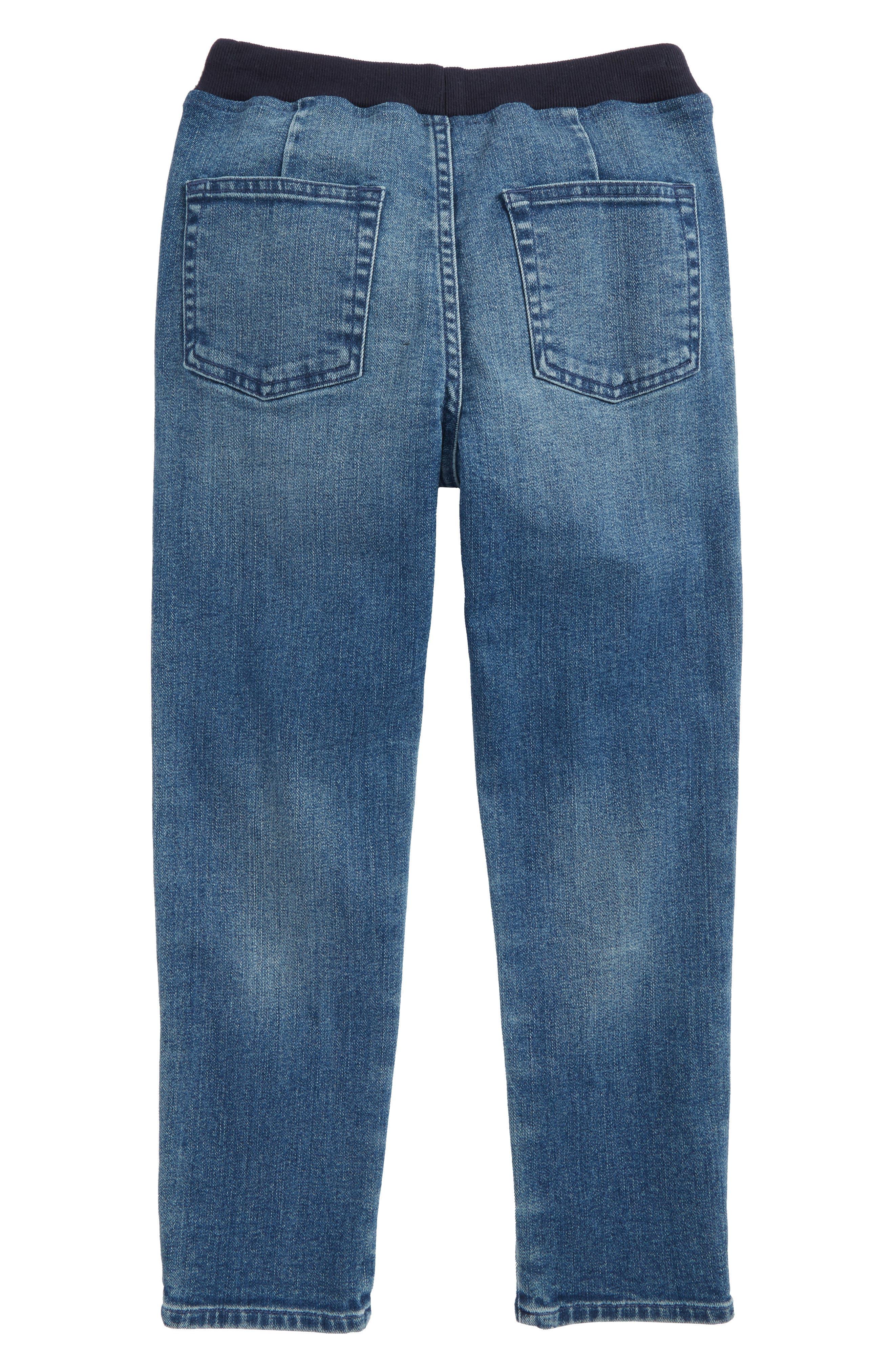 Pull-On Denim Pants,                             Alternate thumbnail 2, color,                             MEDIUM WASH