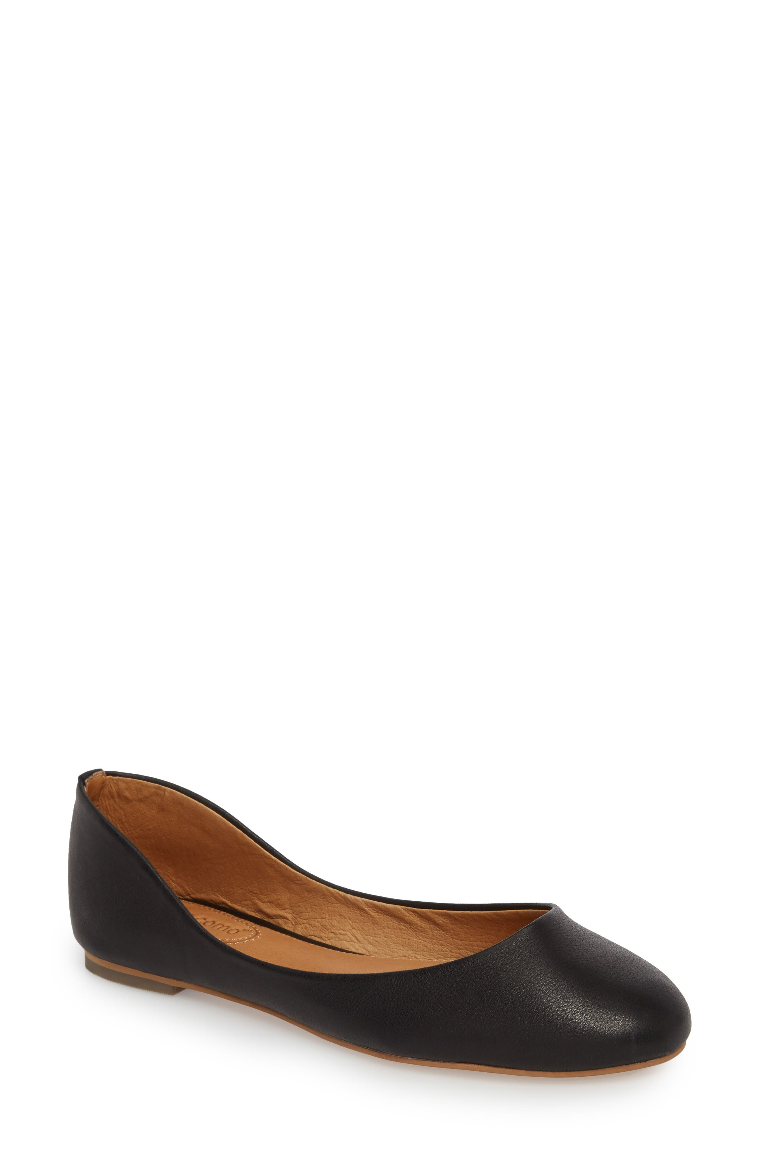 Clanncy Flat,                             Main thumbnail 1, color,                             BLACK LEATHER