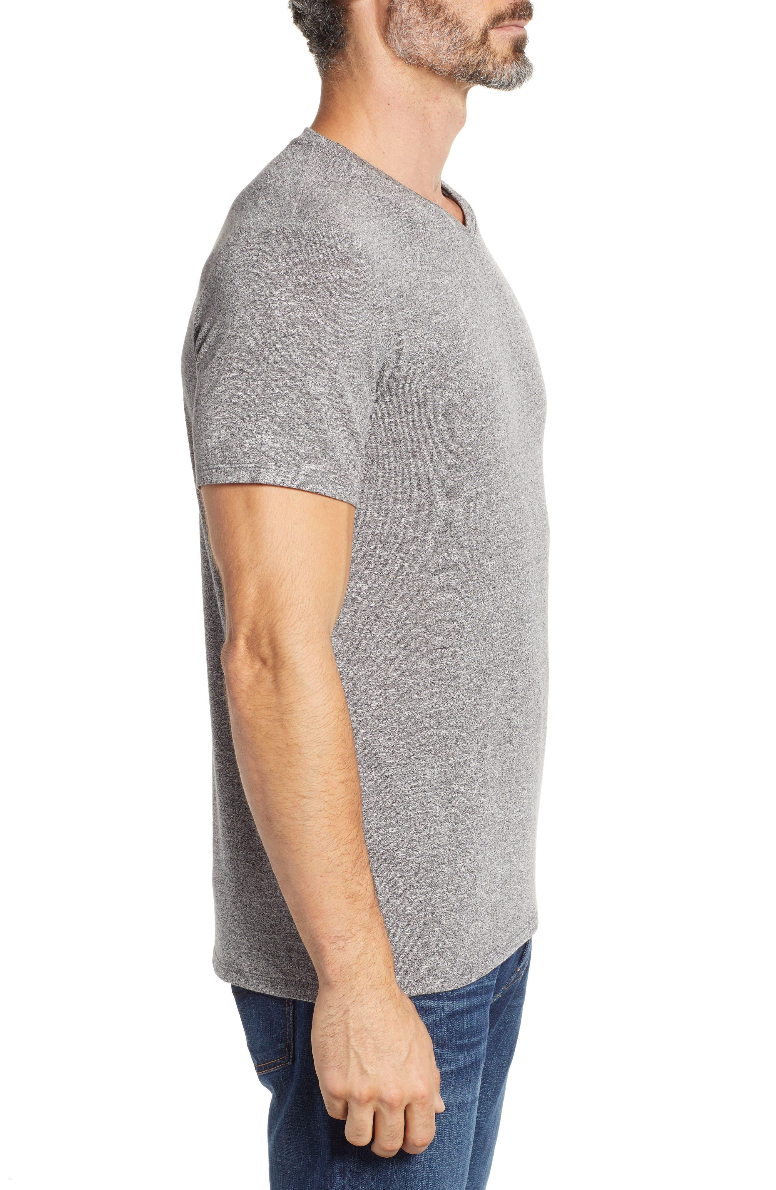 V-Neck T-Shirt,                             Alternate thumbnail 3, color,                             GREY