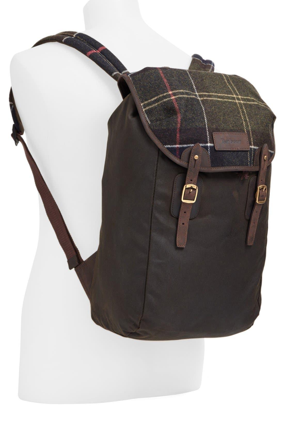 Waxed Canvas Backpack,                             Alternate thumbnail 3, color,                             300