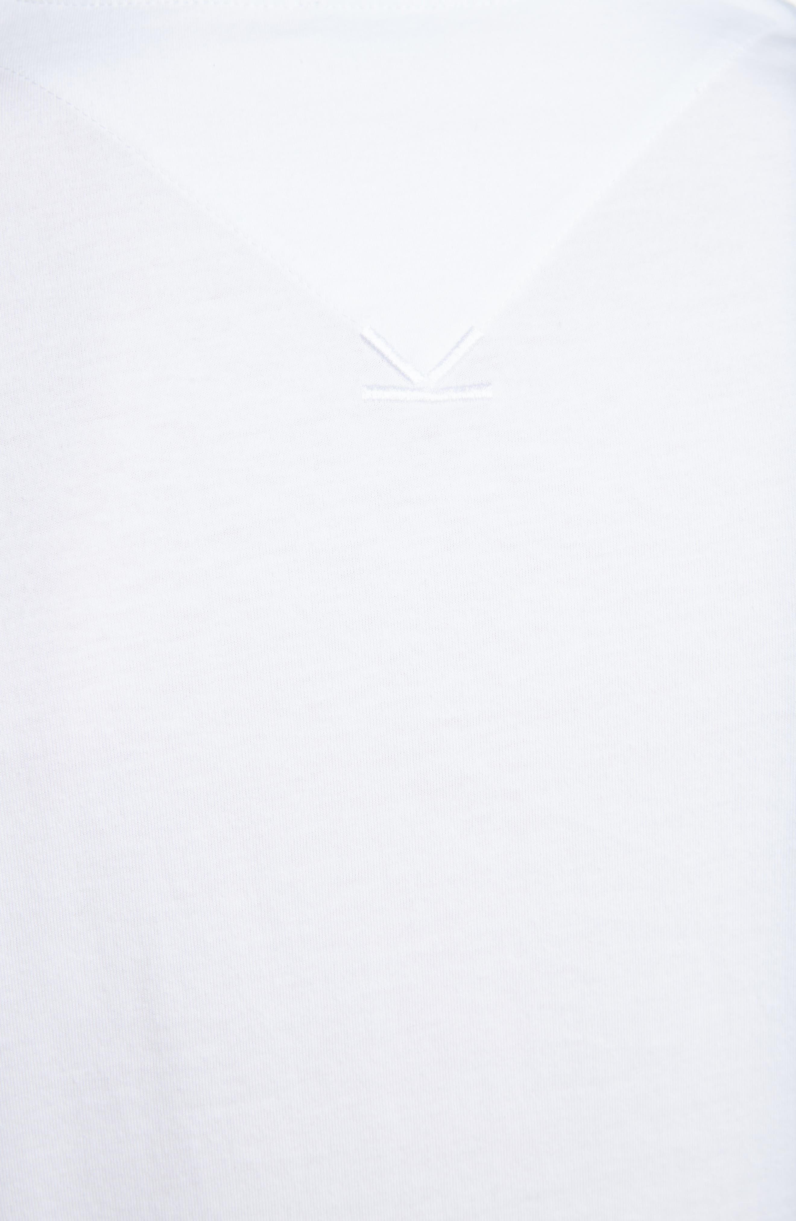 KENZO,                             Classic Fit Logo T-Shirt,                             Alternate thumbnail 5, color,                             WHITE
