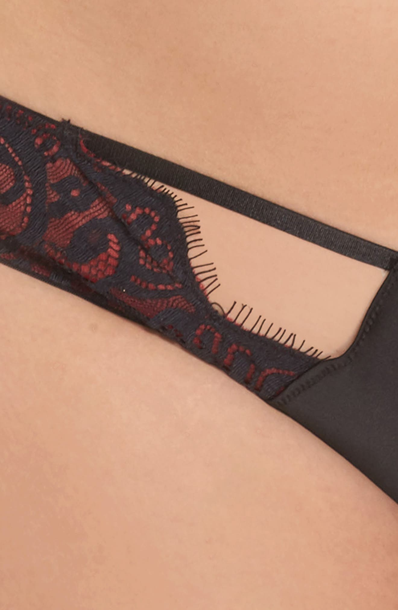 Bailey Curve Embroidered Bikini,                             Alternate thumbnail 4, color,