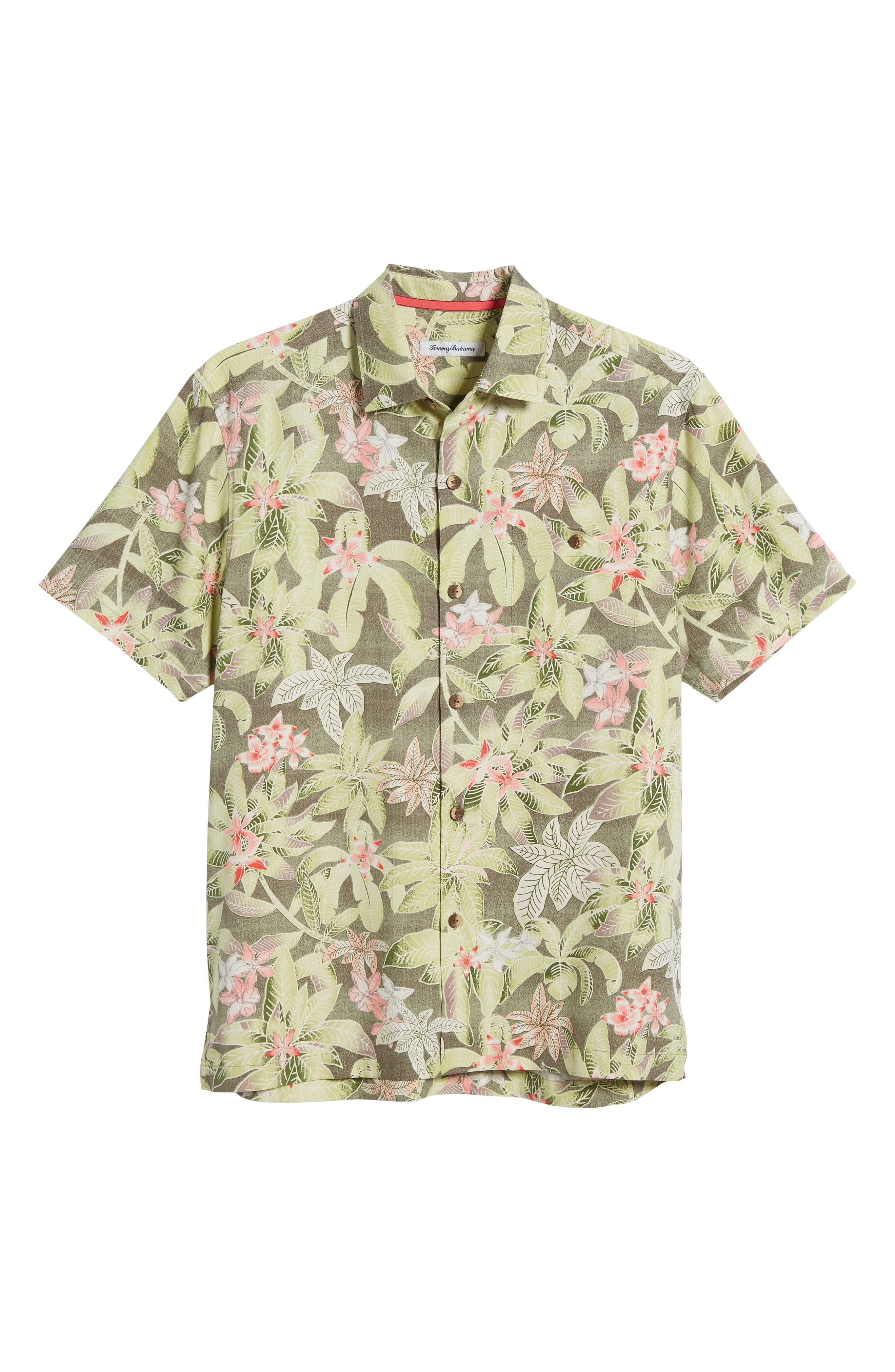 El Medano Jungle Silk Camp Shirt,                             Alternate thumbnail 11, color,