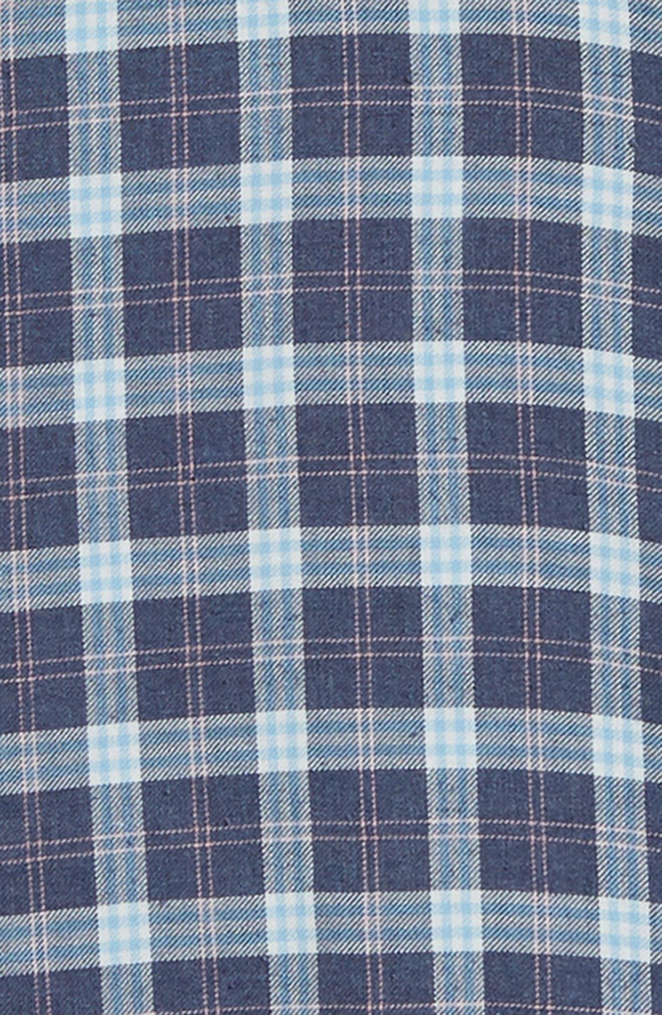 Brushed Alpine Regular Fit Flannel Shirt,                             Alternate thumbnail 6, color,                             INDIGO BLUE CORAL