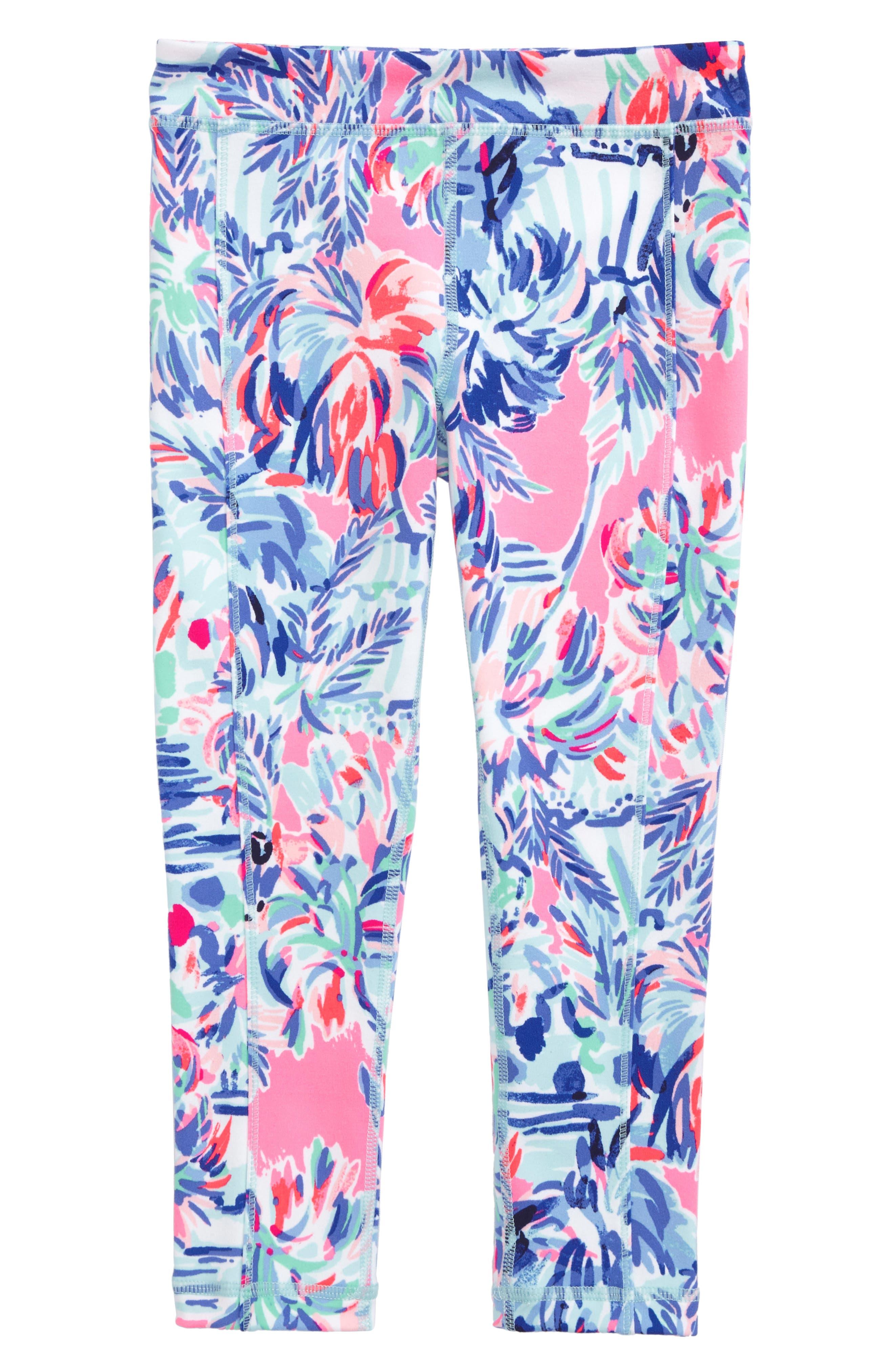 UPF 50+ Print Leggings,                         Main,                         color,