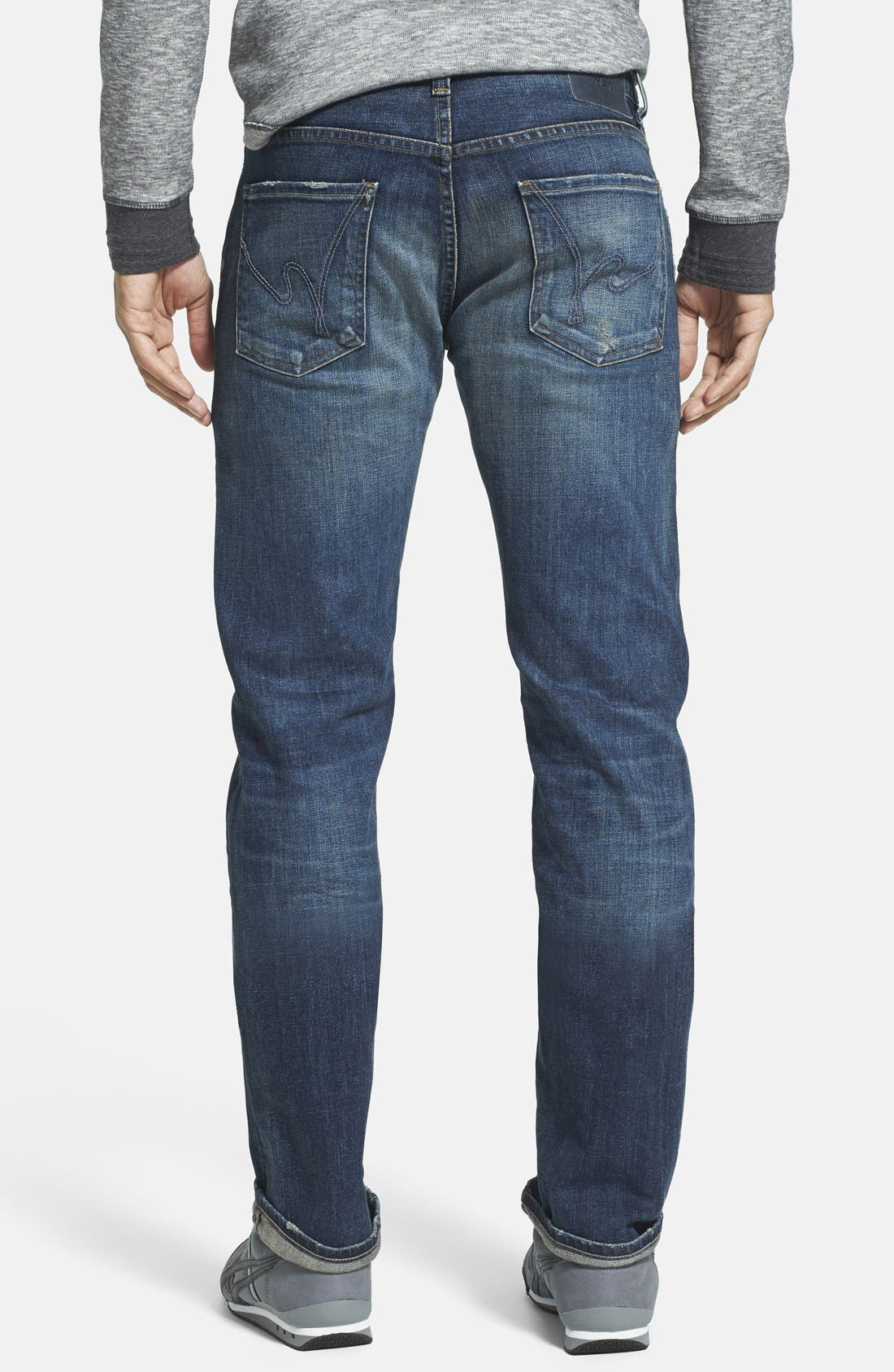 'Core' Slim Fit Jeans,                             Alternate thumbnail 4, color,                             MORRISON