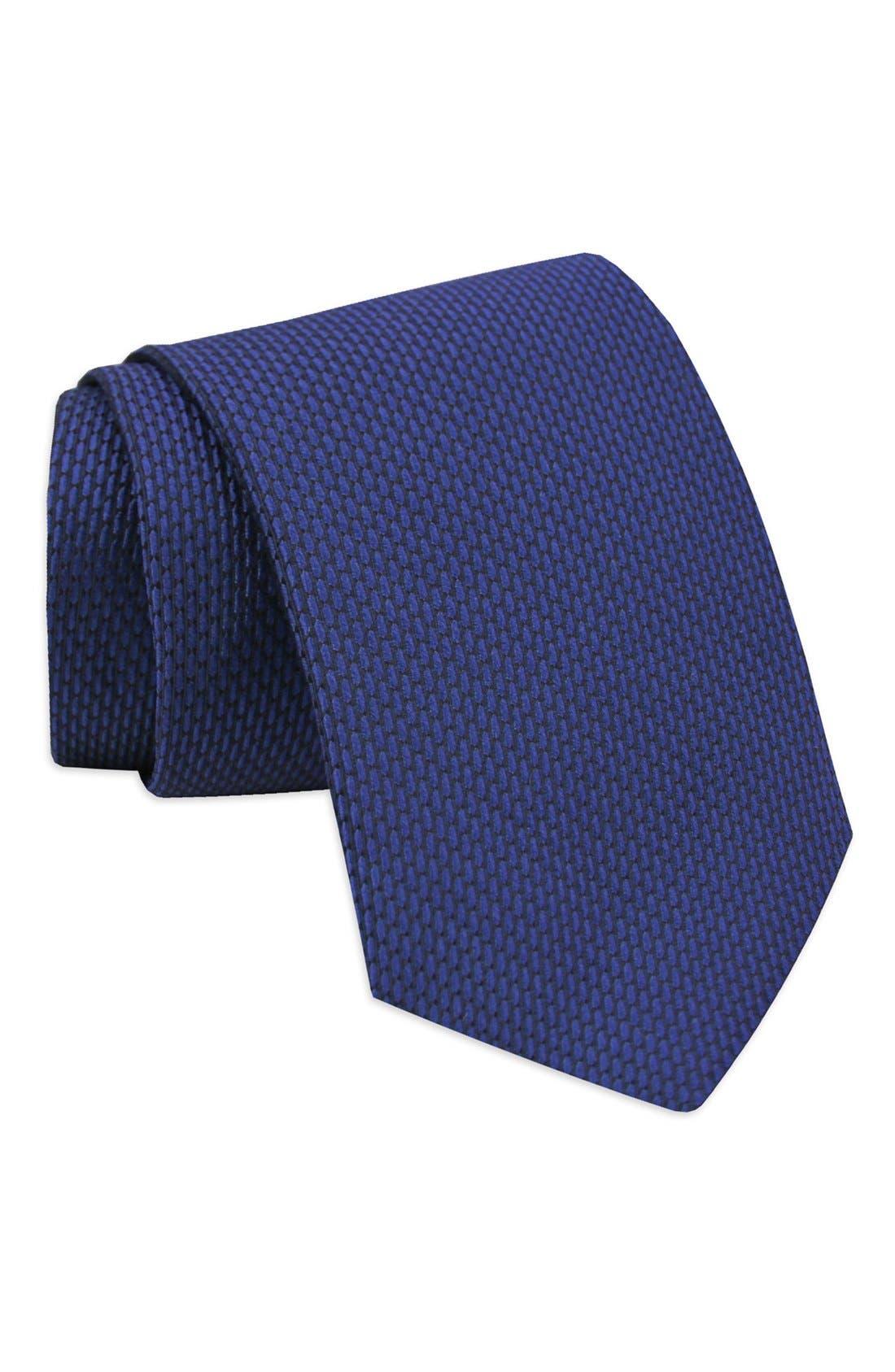 'Neat' Woven Silk Tie,                         Main,                         color,