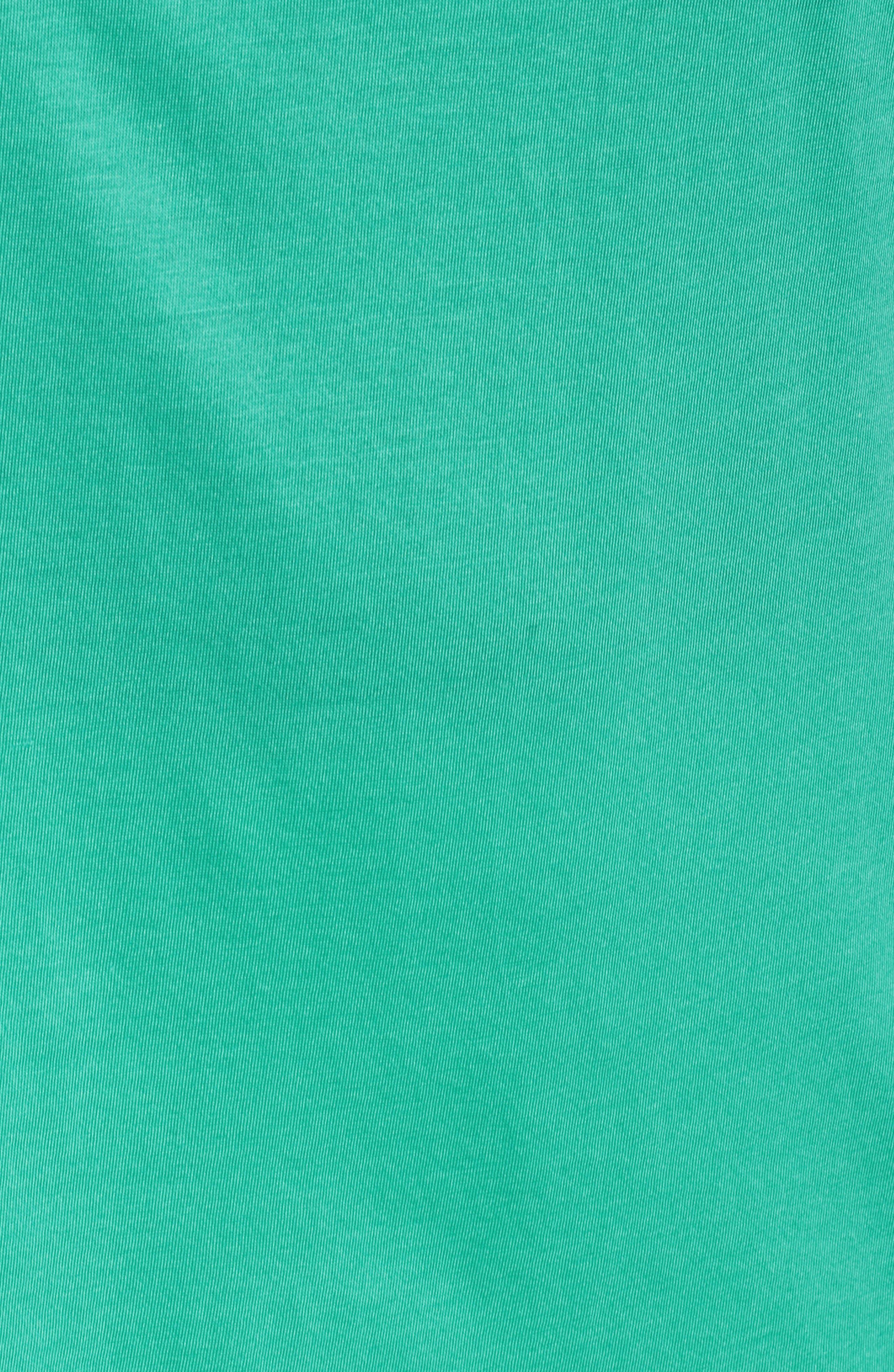 Ruffle Sleeve Top,                             Alternate thumbnail 6, color,                             AQUA