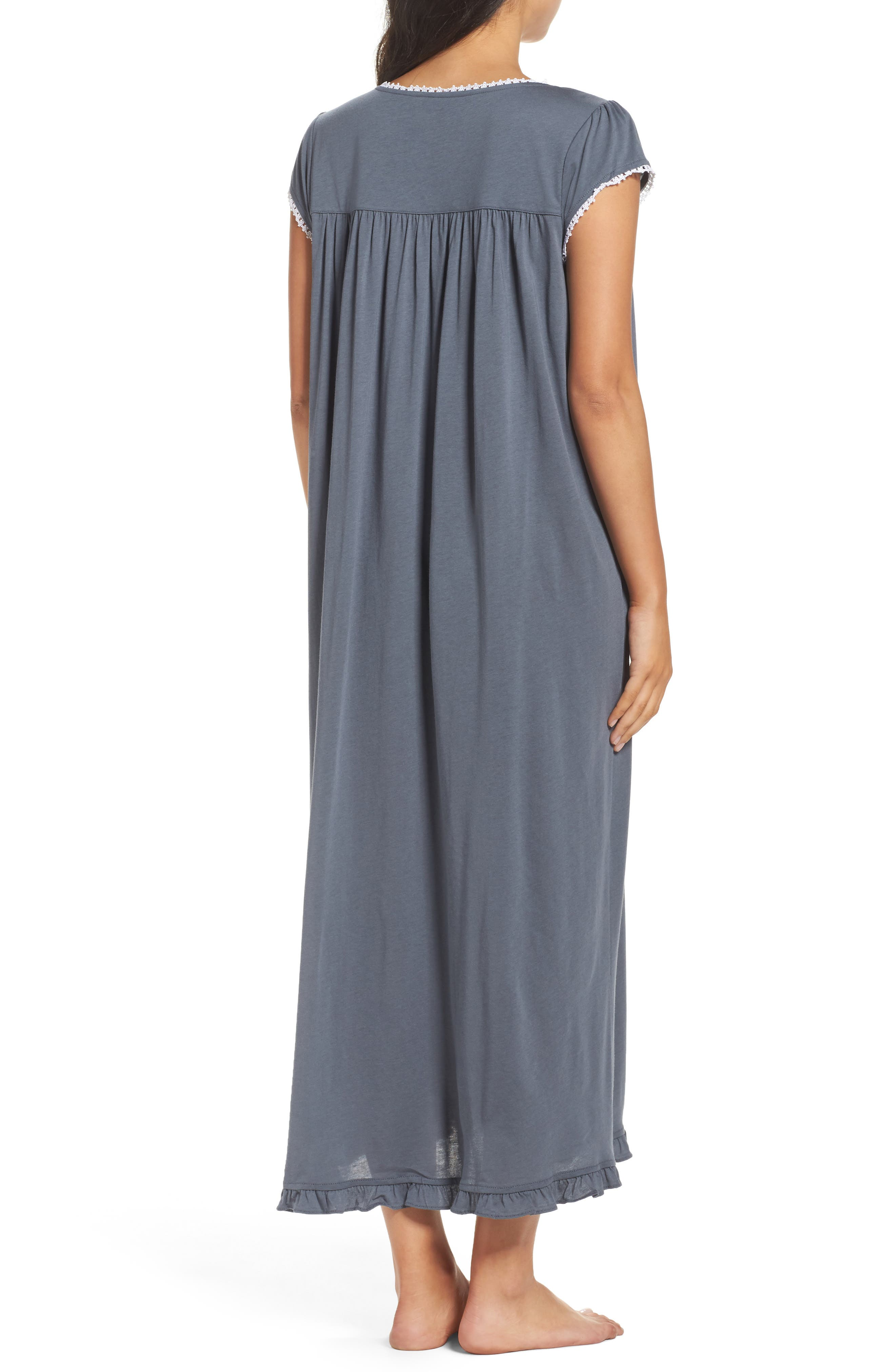 Cotton & Modal Ballet Nightgown,                             Alternate thumbnail 2, color,                             001