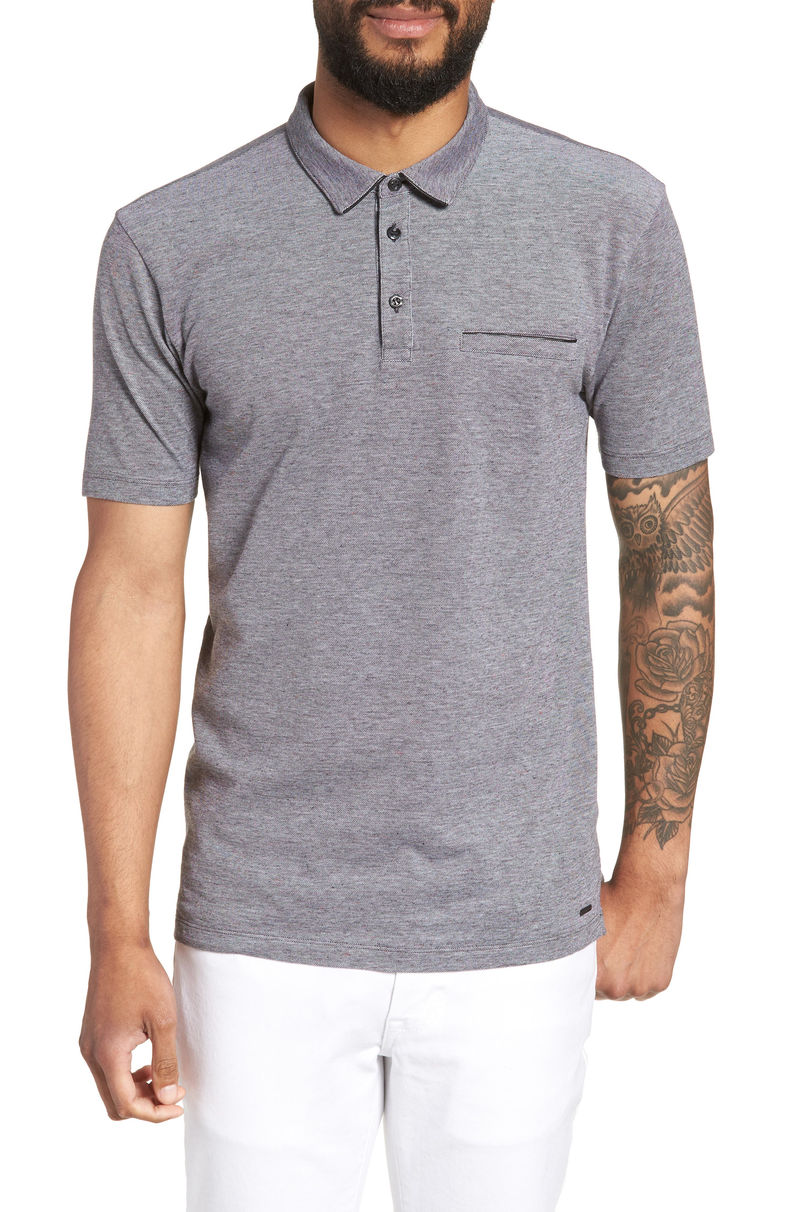 Darrow Cotton Polo Shirt,                             Main thumbnail 1, color,                             001