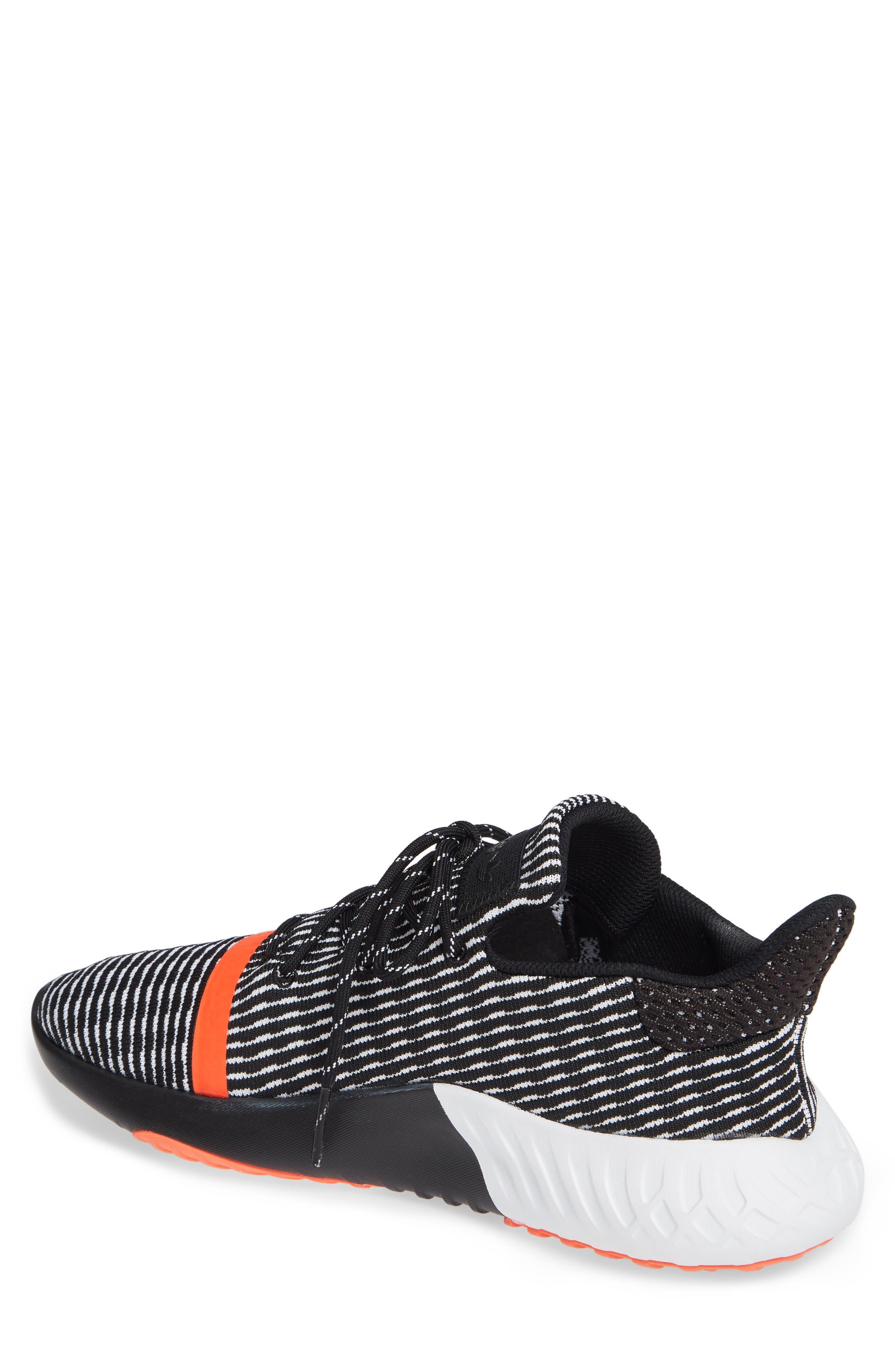 Tubular Dusk Primeknit Sneaker,                             Alternate thumbnail 2, color,                             BLACK/ WHITE/ SOLAR RED