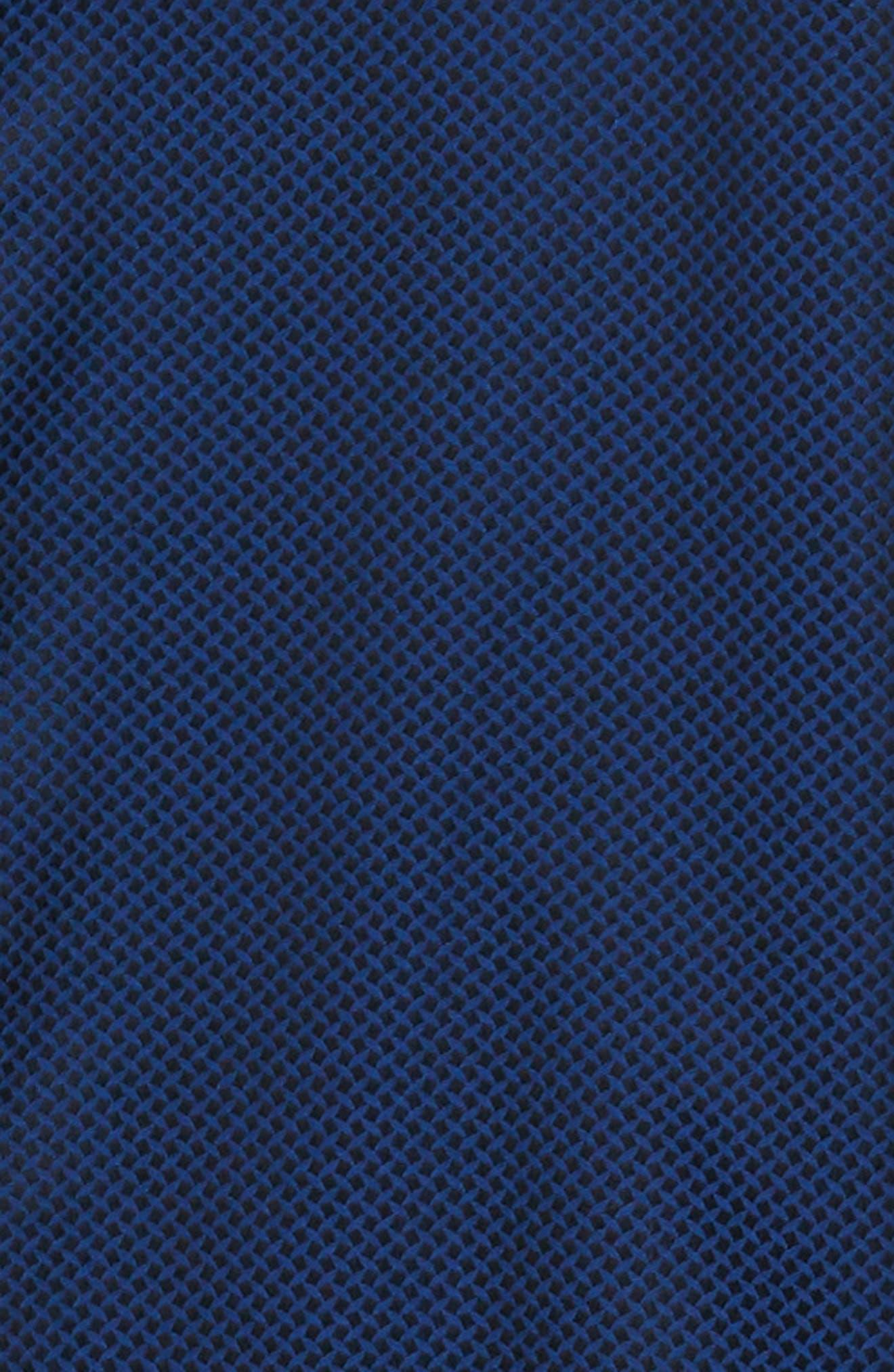 Anson Tailored Fit Jacquard Sport Shirt,                             Alternate thumbnail 6, color,                             NAVY