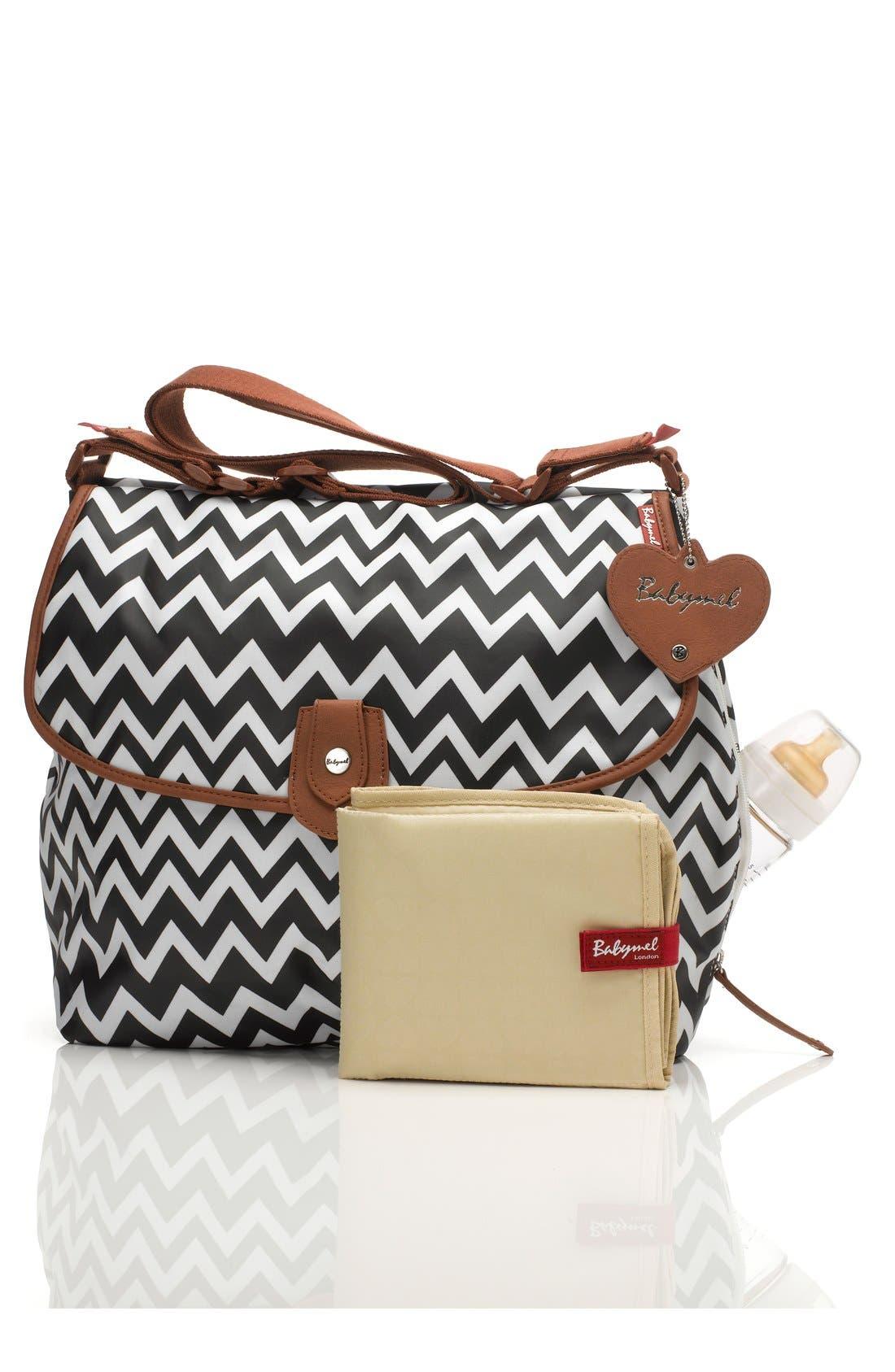 'Satchel' Diaper Bag,                             Main thumbnail 1, color,                             005